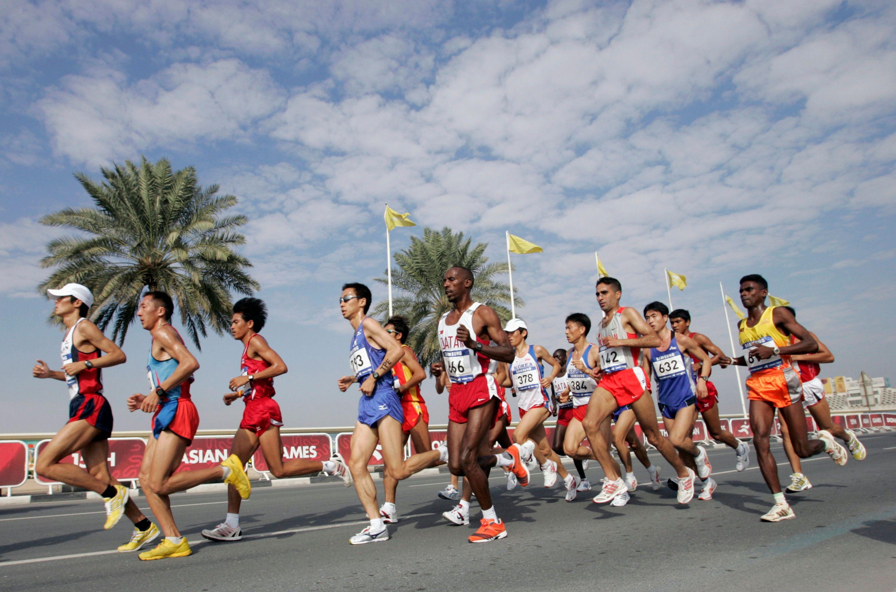 Un marathon couru au Qatar en 2006.