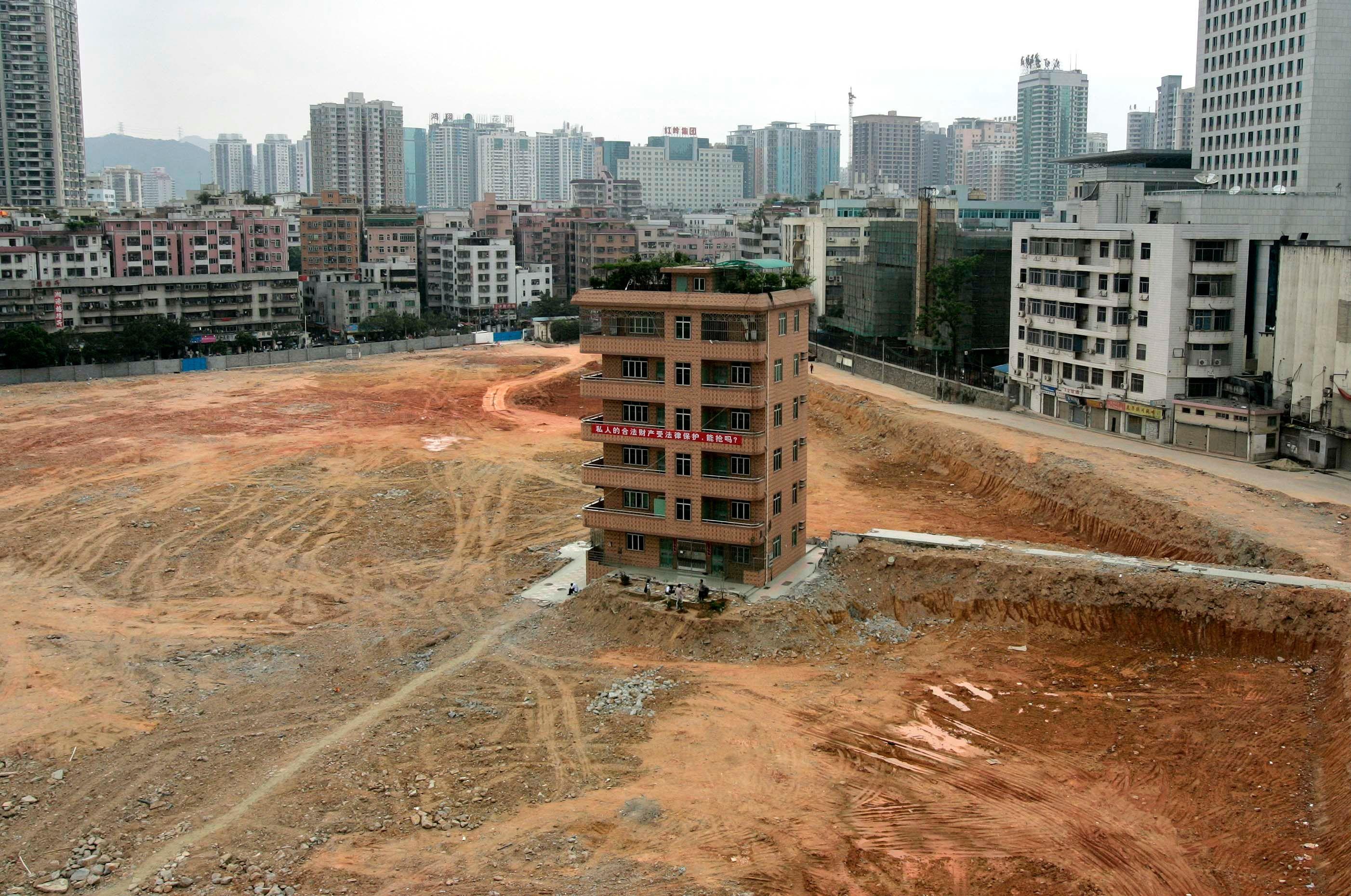 """Une """"maison-clou"""" de Shenzhen"""
