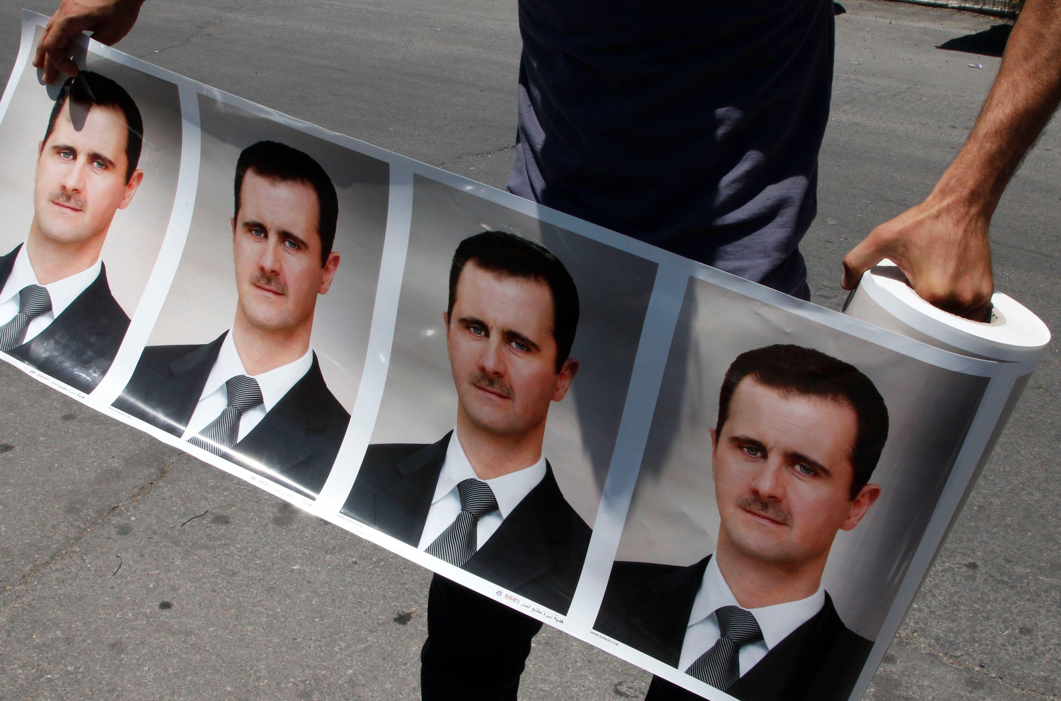 Photos de Bachar al-Assad.