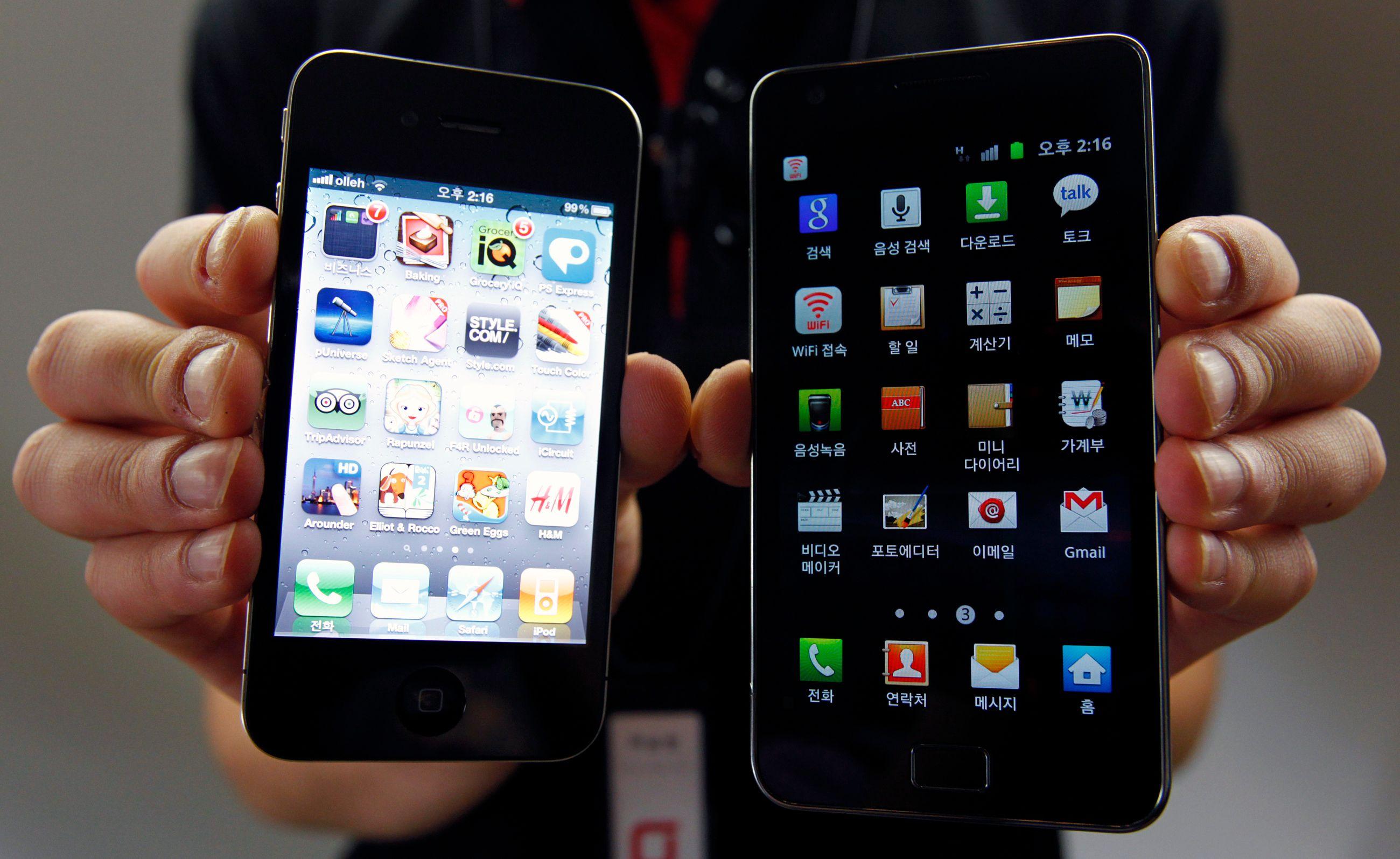 iPhone et Samsung