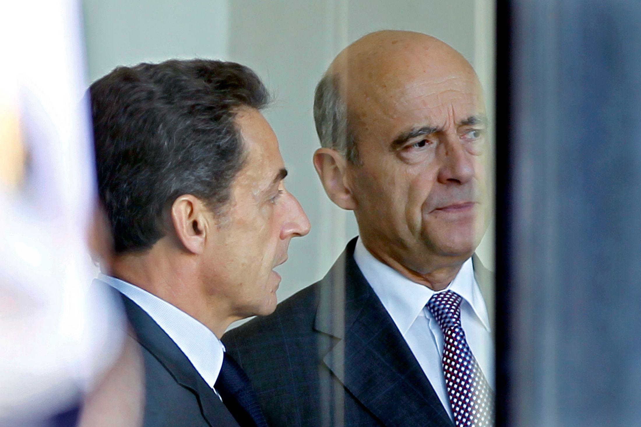 Alain Juppé et Nicolas Sarkozy.