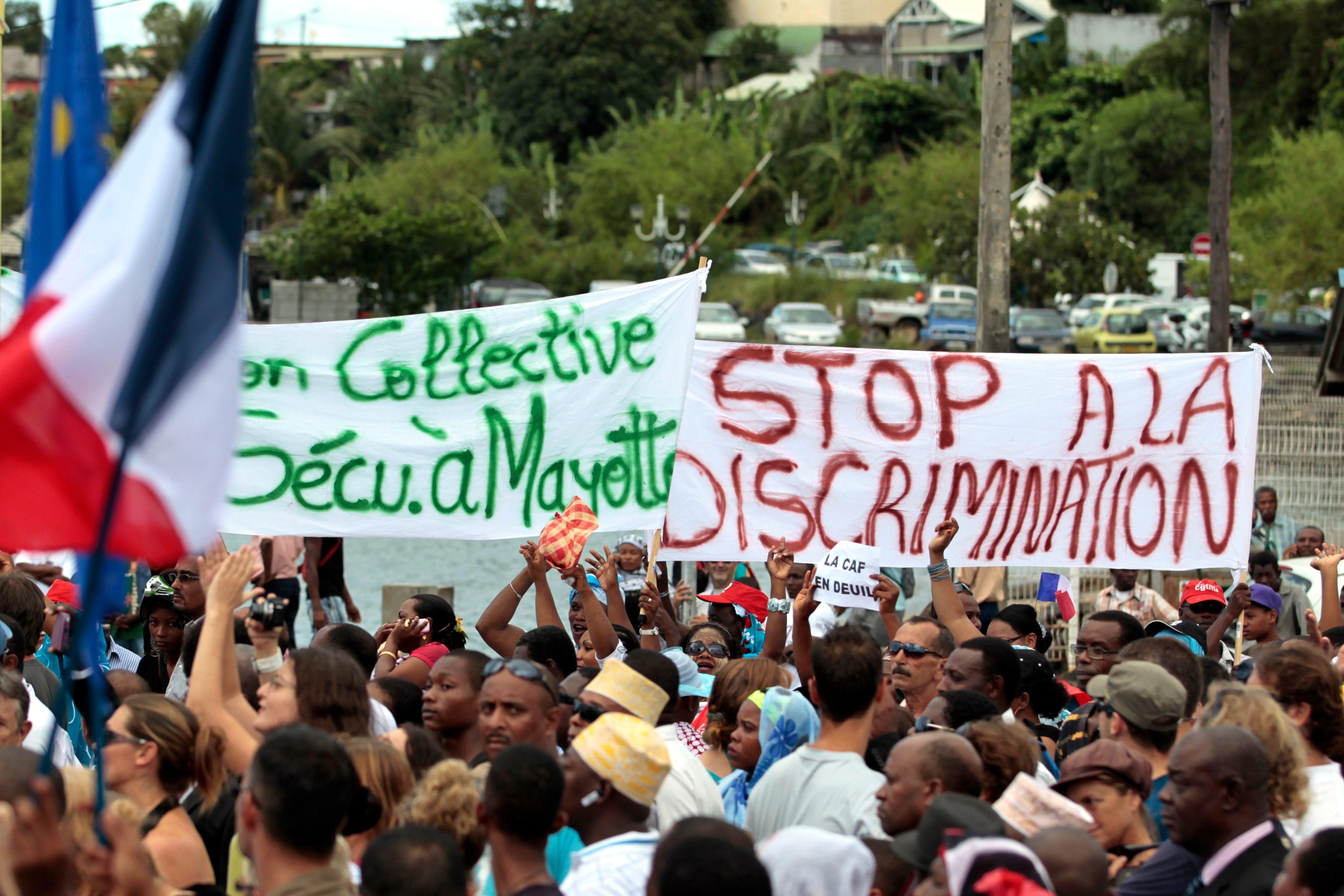 Une manifestation à Mayotte (photo d'archive).