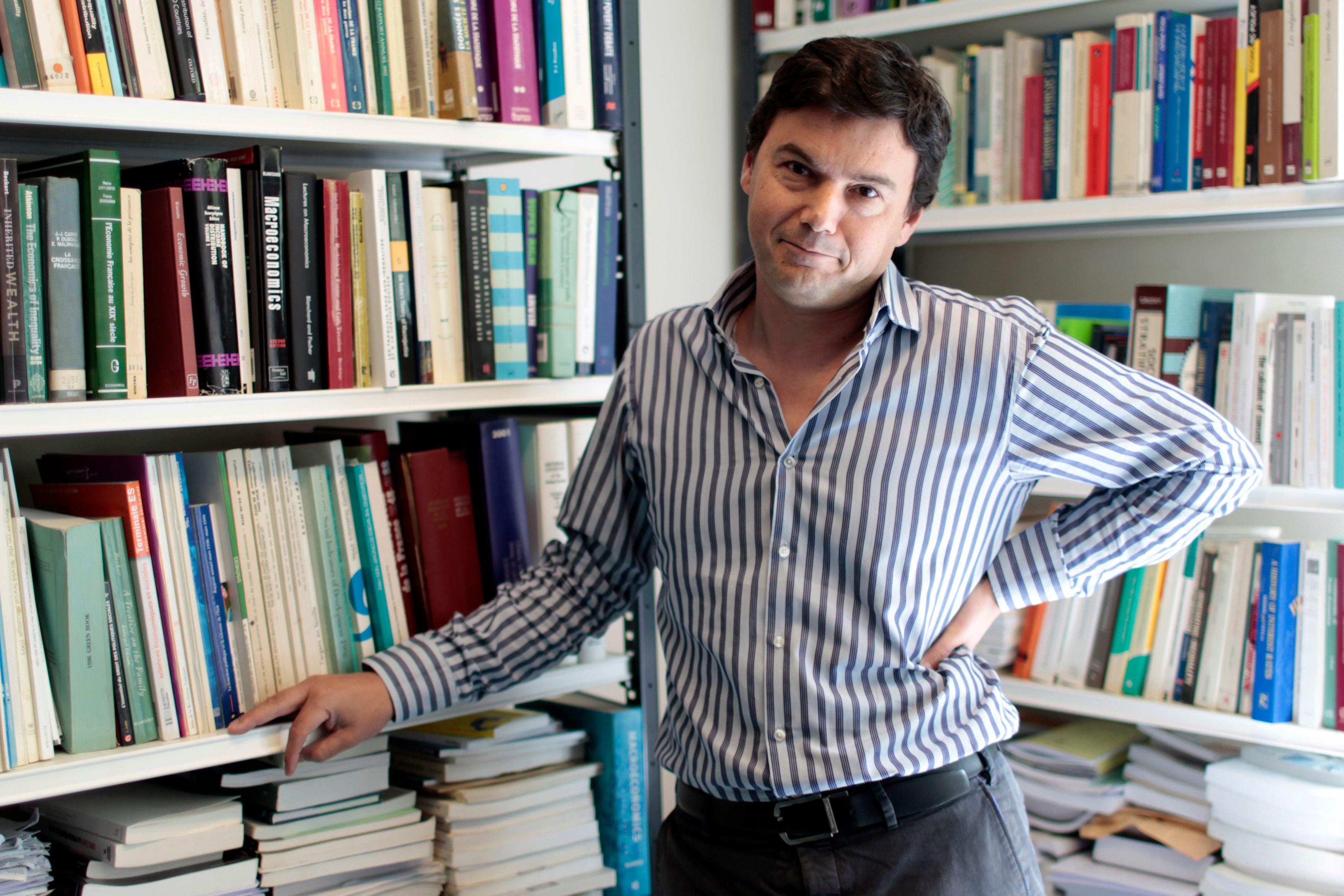 """Le livre de l'économiste français Thomas Piketty, proche du camp socialiste, """"Le Capital au XXIe siècle"""" rencontre un très fort échos aux Etats-Unis depuis sa sortie en mars."""