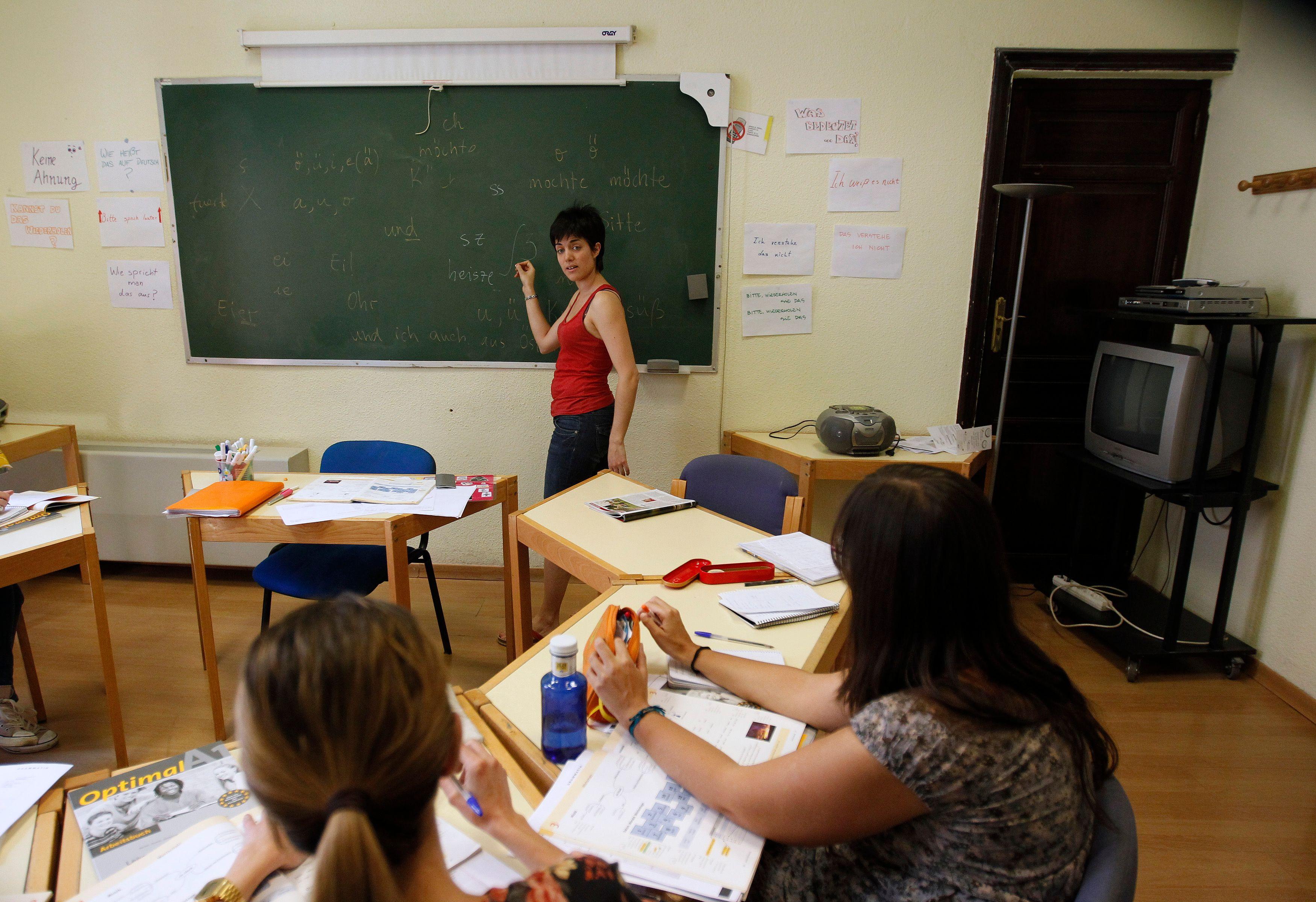 L'enseignante était en charge d'une classe d'enfants âgés de trois ans et demi