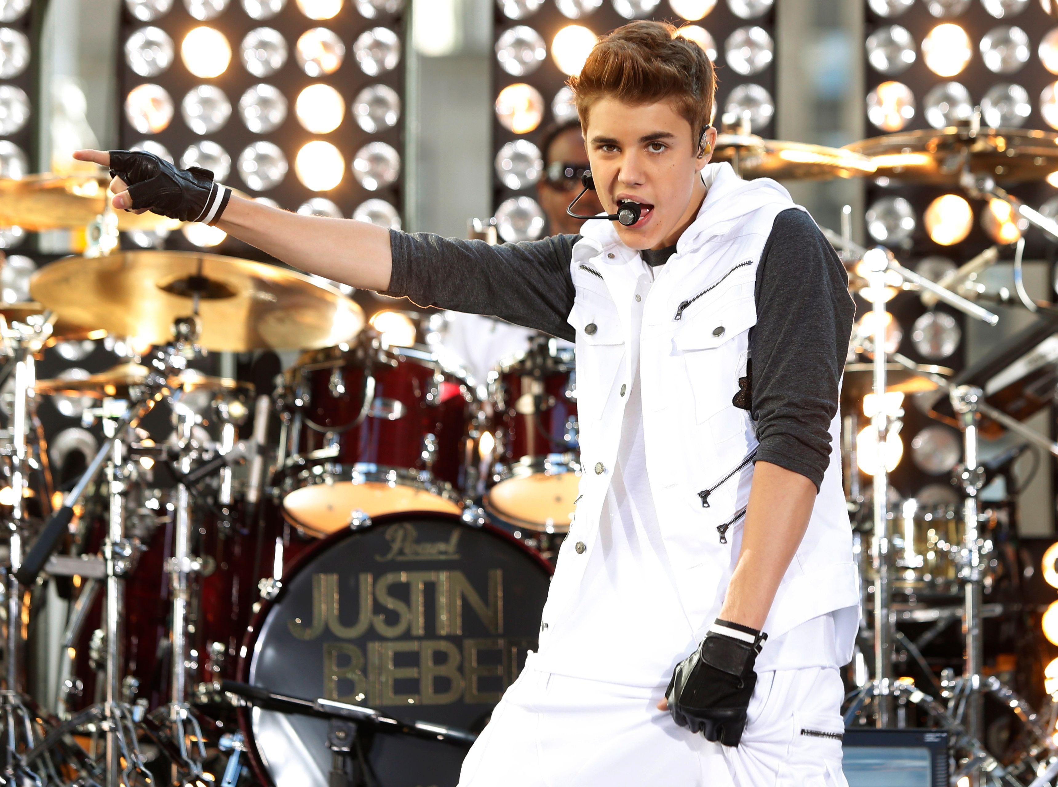 Justin Bieber sur scène