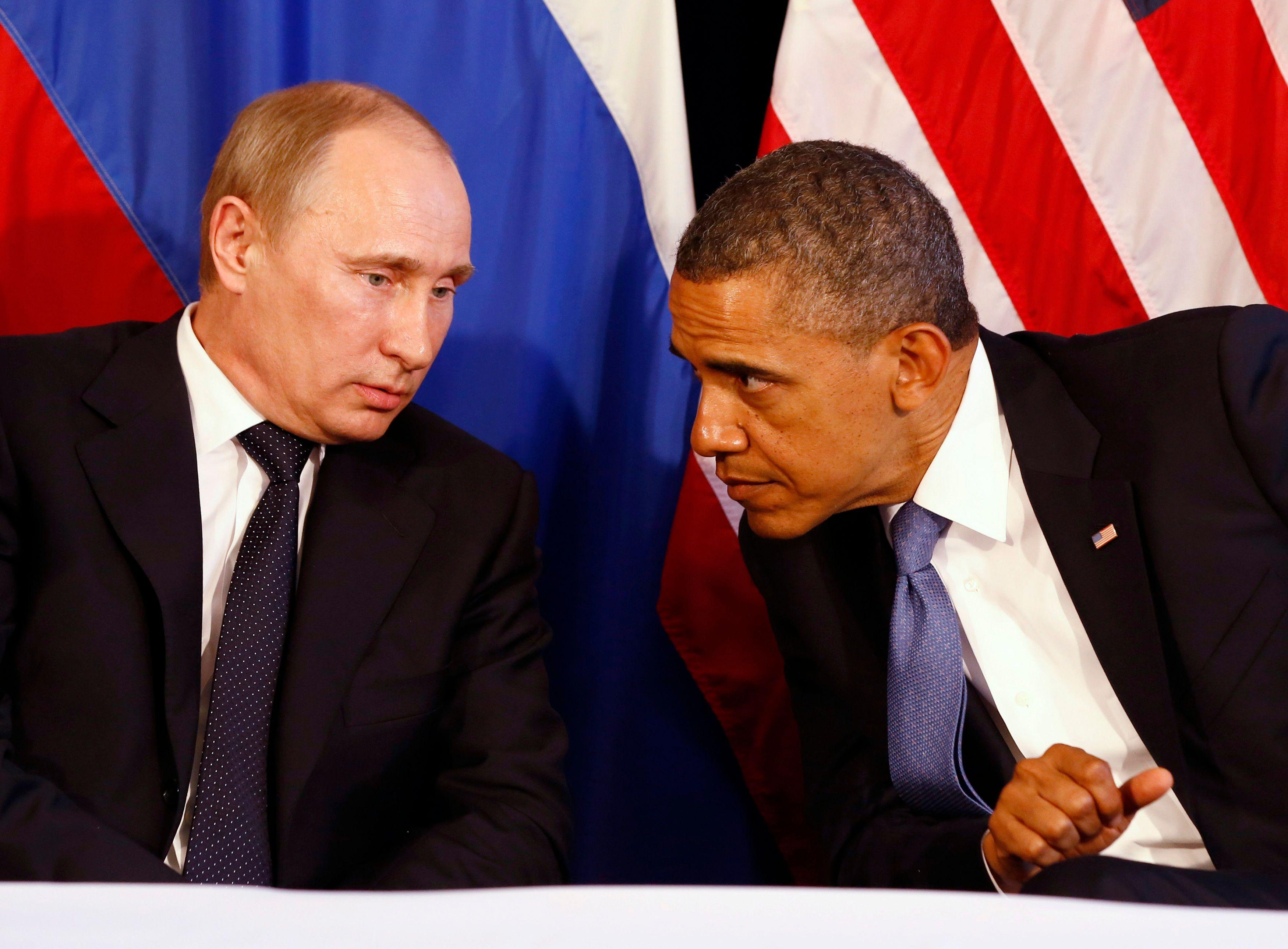 Vladimir Poutine et Barack Obama se sont entretenus le 21 février (photo d'archive).