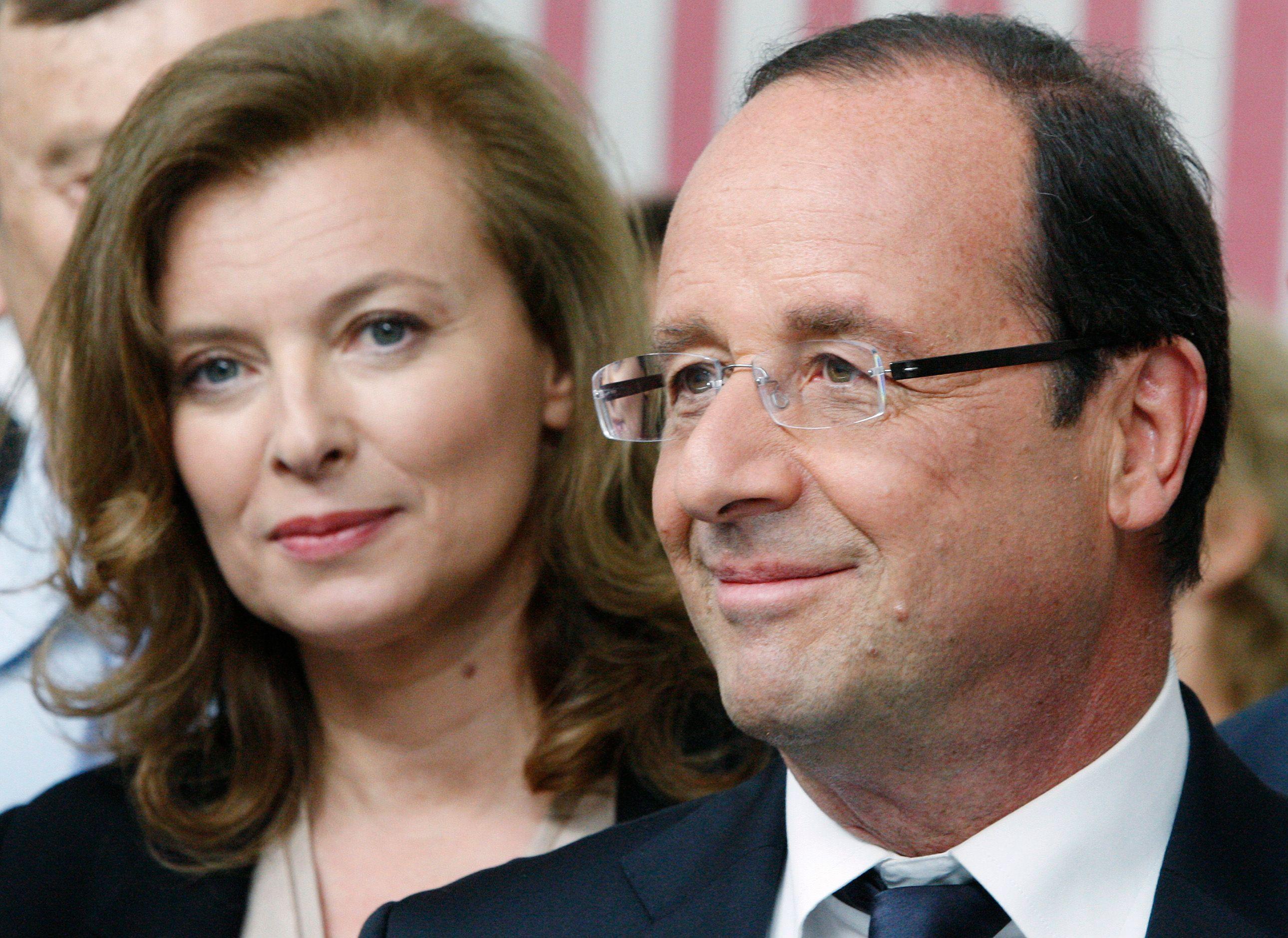 Valérie Trierweiler aux côtés de François Hollande