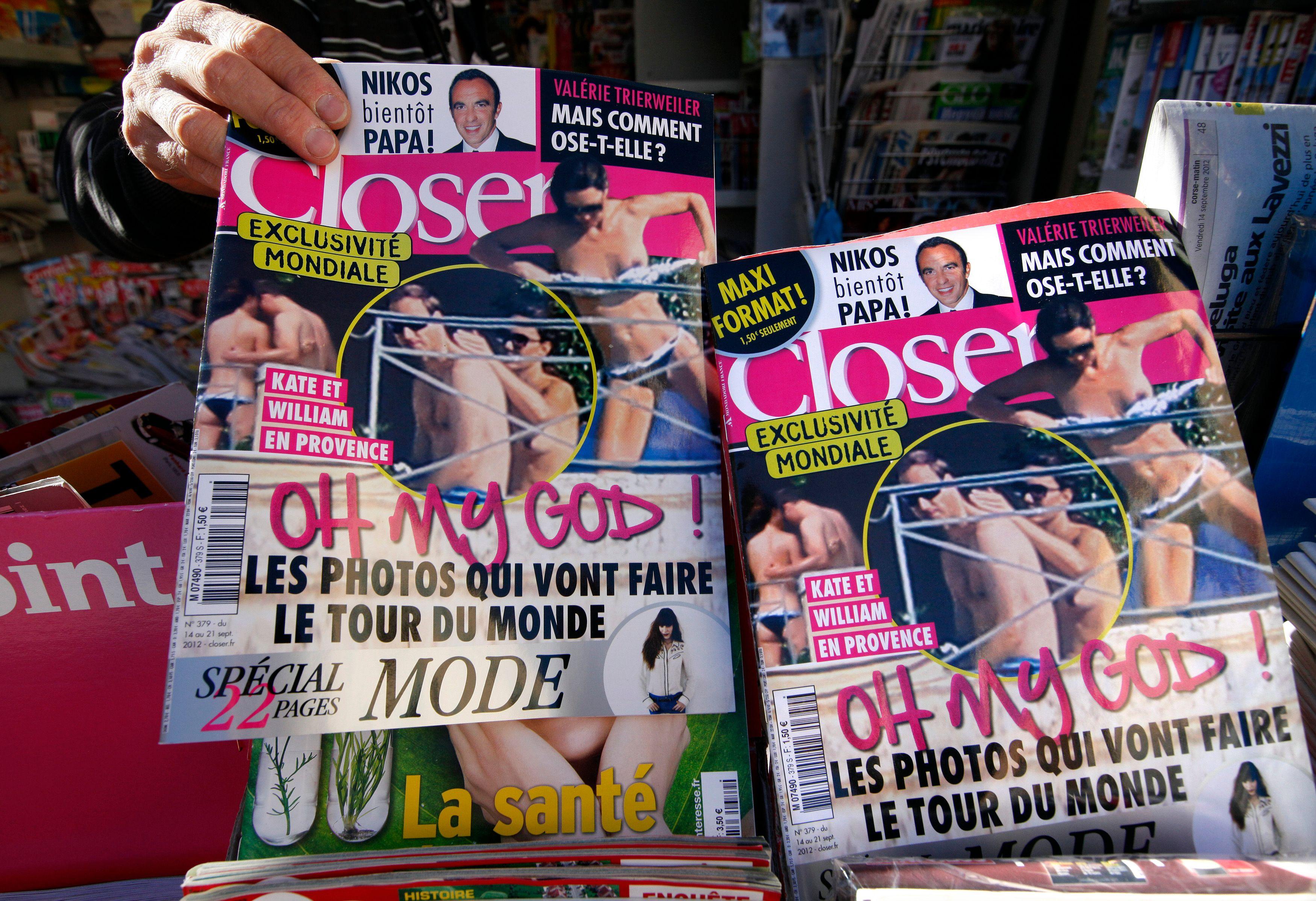 Closer condamné à une très lourde amende pour avoir publié des photos de la Duchesse Kate seins nus