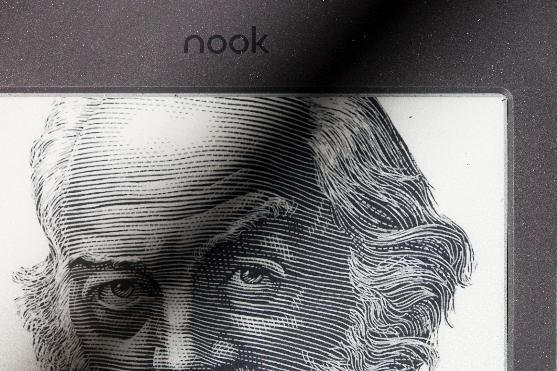 Photo d'illustration // Portrait de l'écrivain Walt Whitman sur une liseuse électronique.