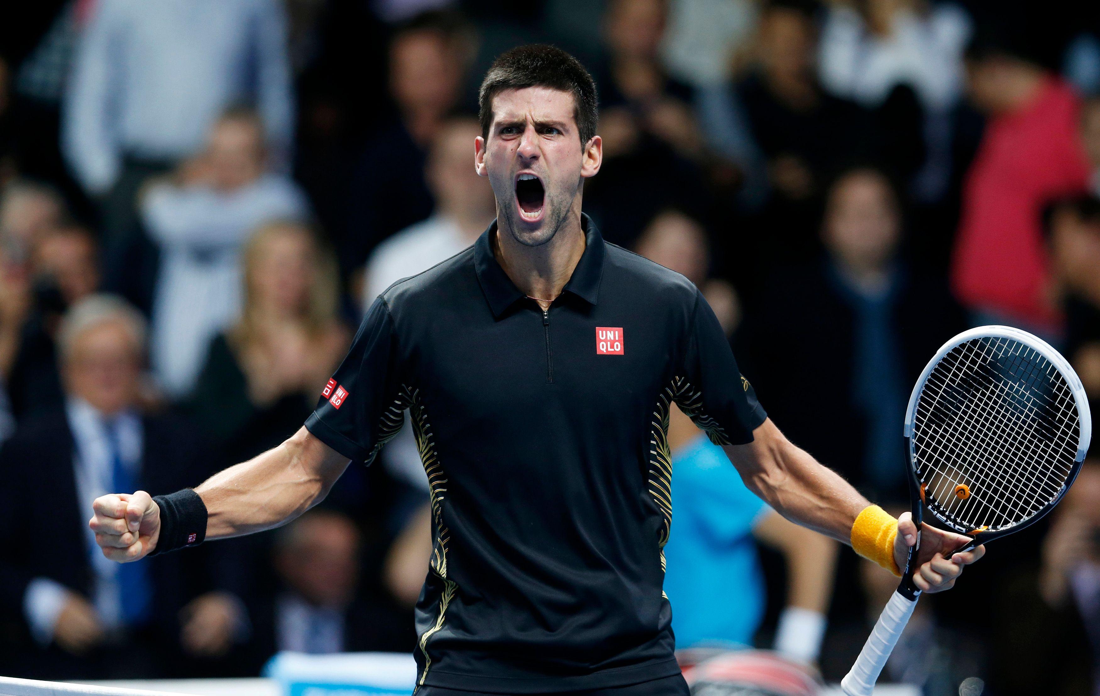 Le joueur de tennis Djokovic.