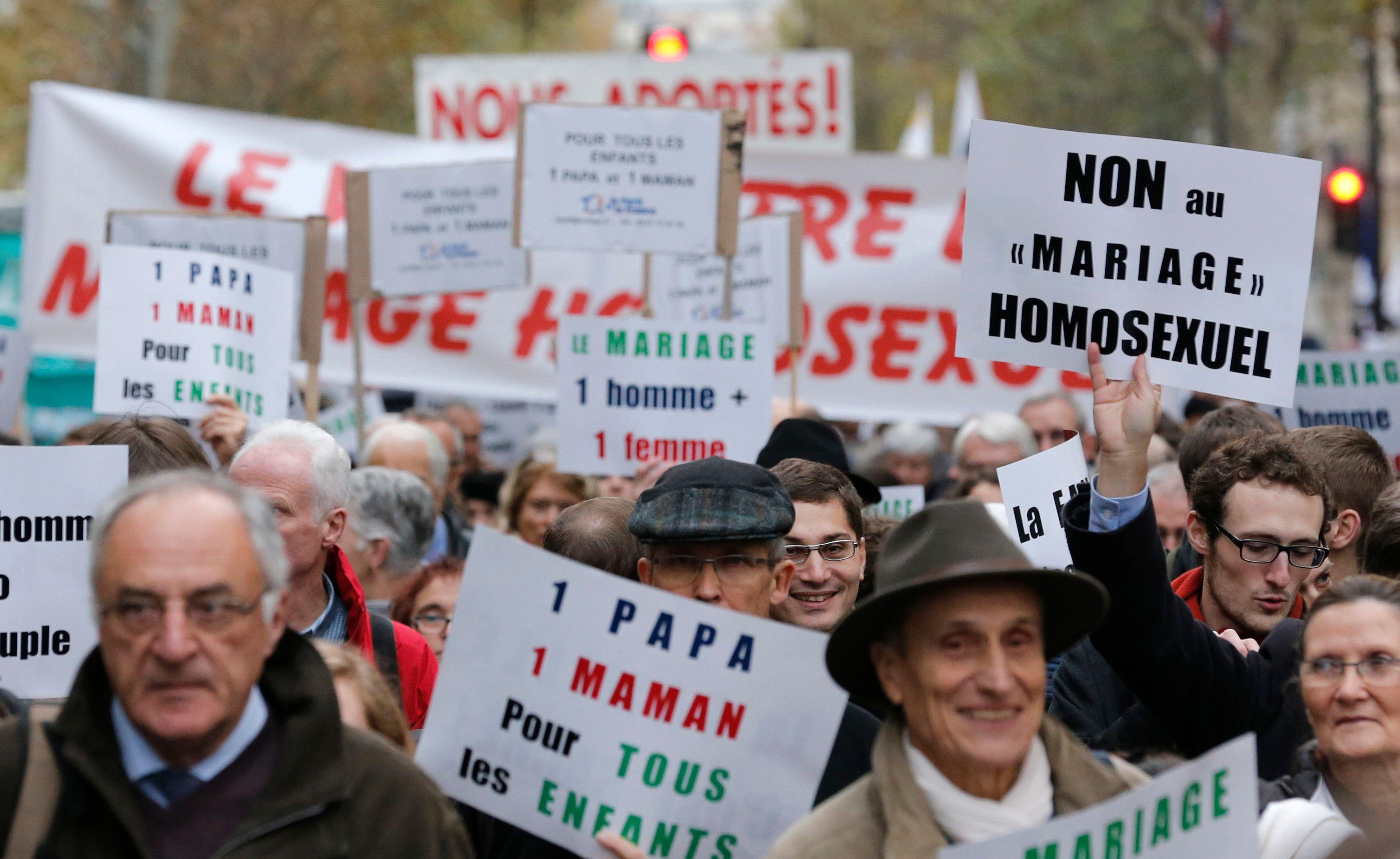 La manifestation contre le mariage homosexuel a lieu ce dimanche