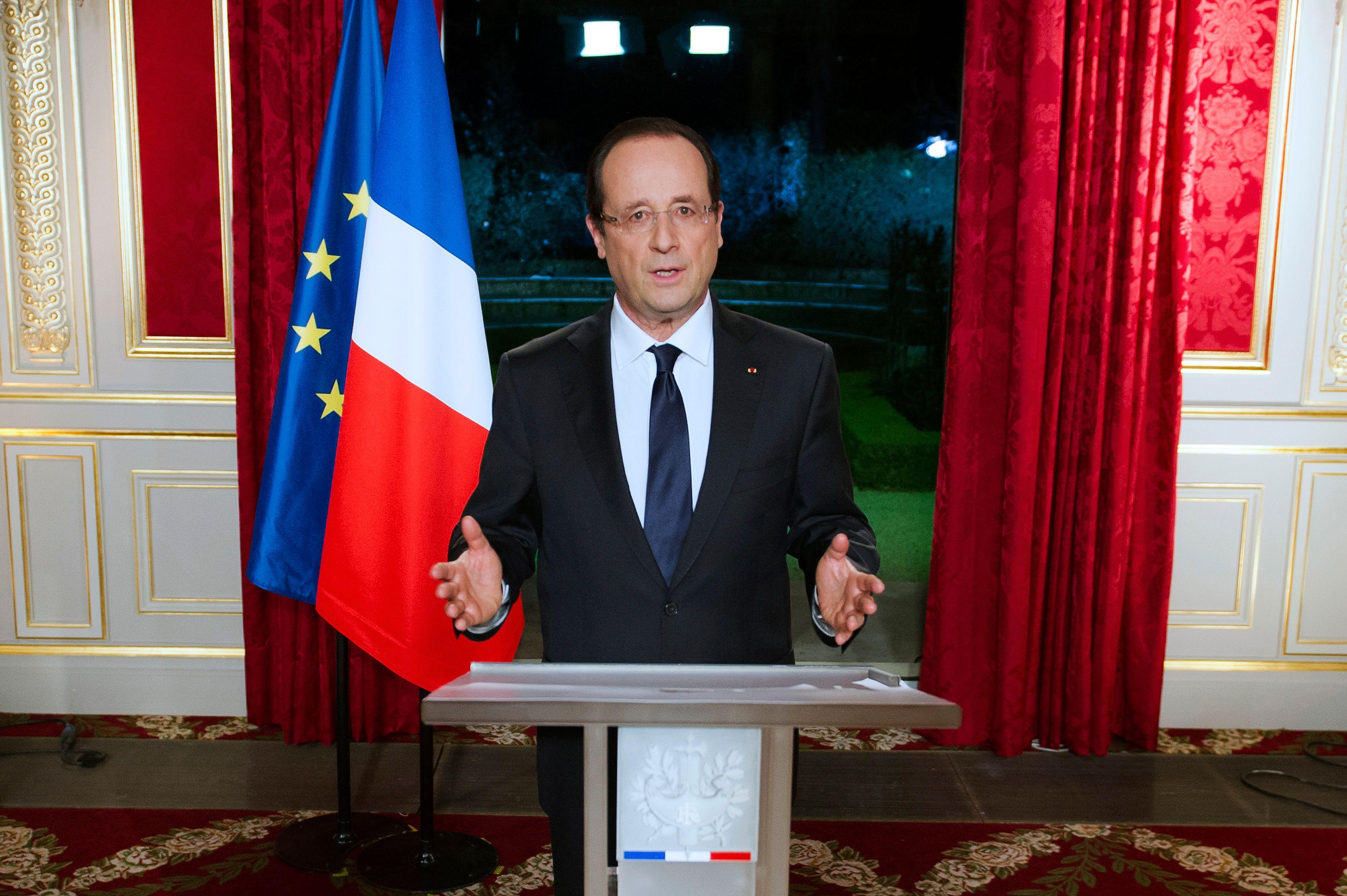 François Hollande adresse ses voeux au Français, le 31 décembre 2012.