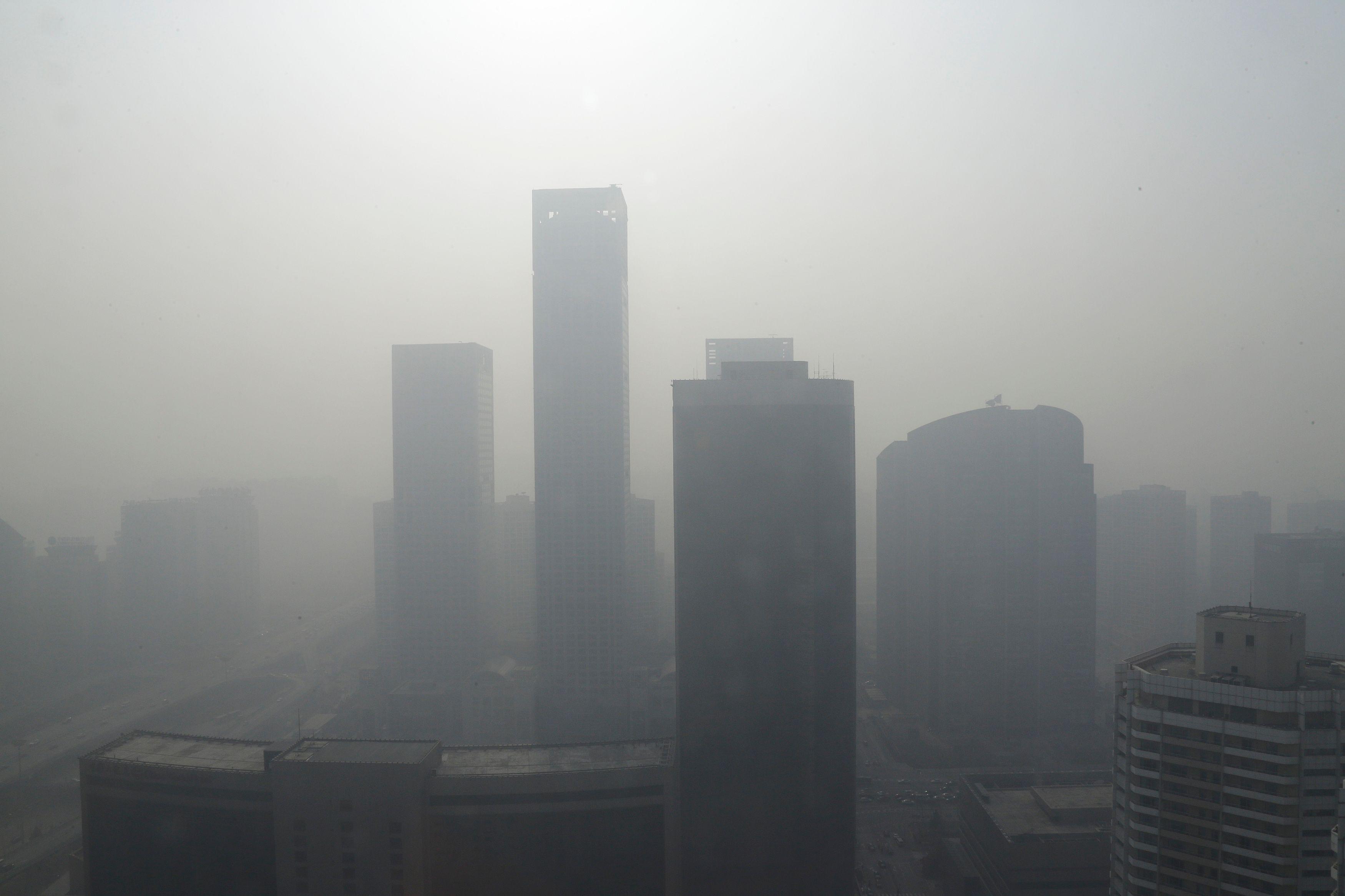 Pékin est recouvert d'un brouillard de pollution depuis plusieurs jours.