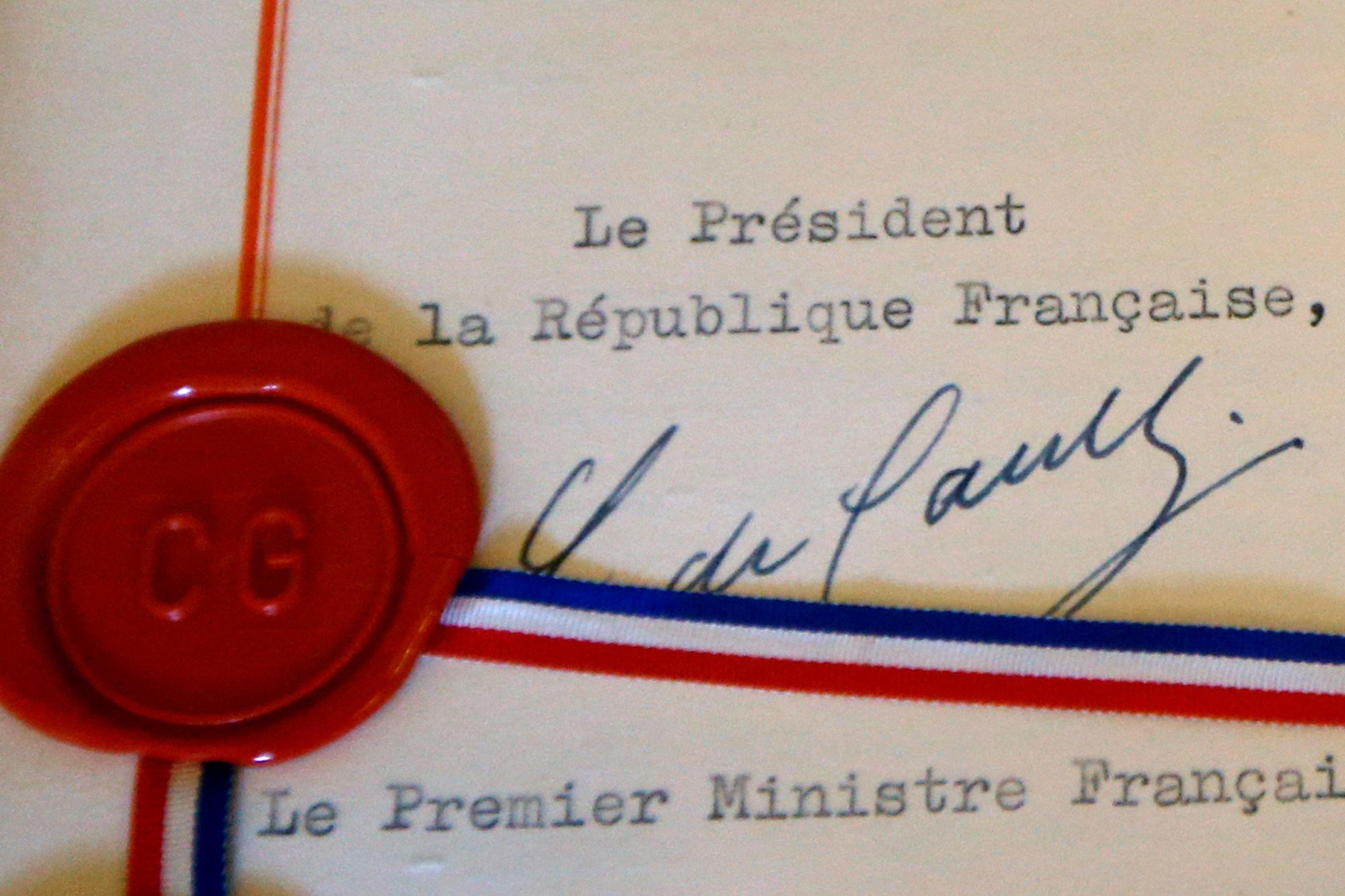 La signature du général de Gaulle.