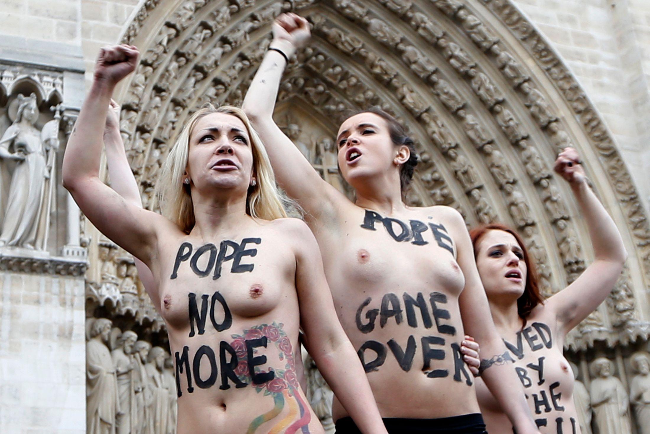 Les Femen sont adeptes de ce genre d'actions à Paris