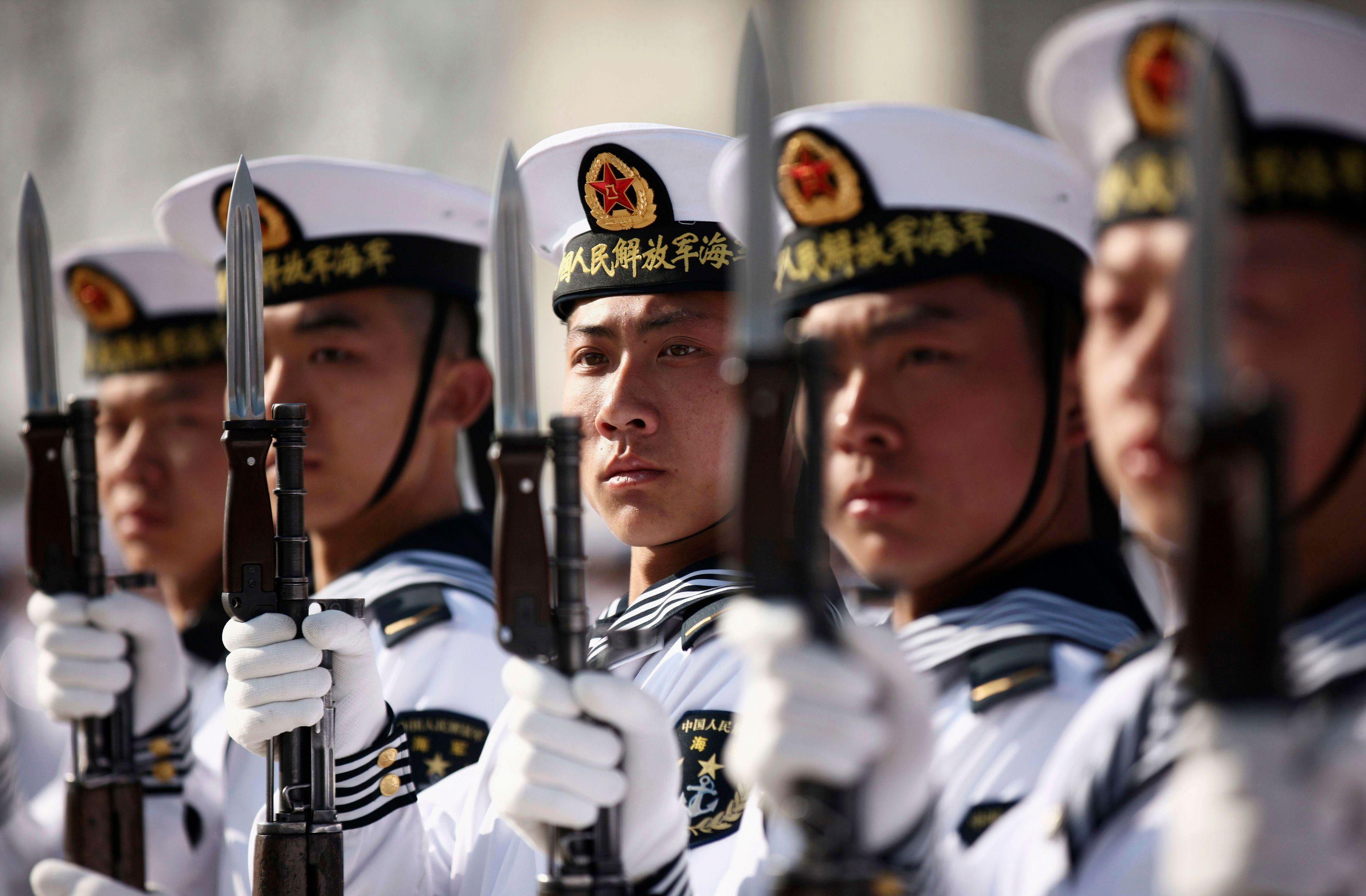 Des marins de l'armée chinoise.