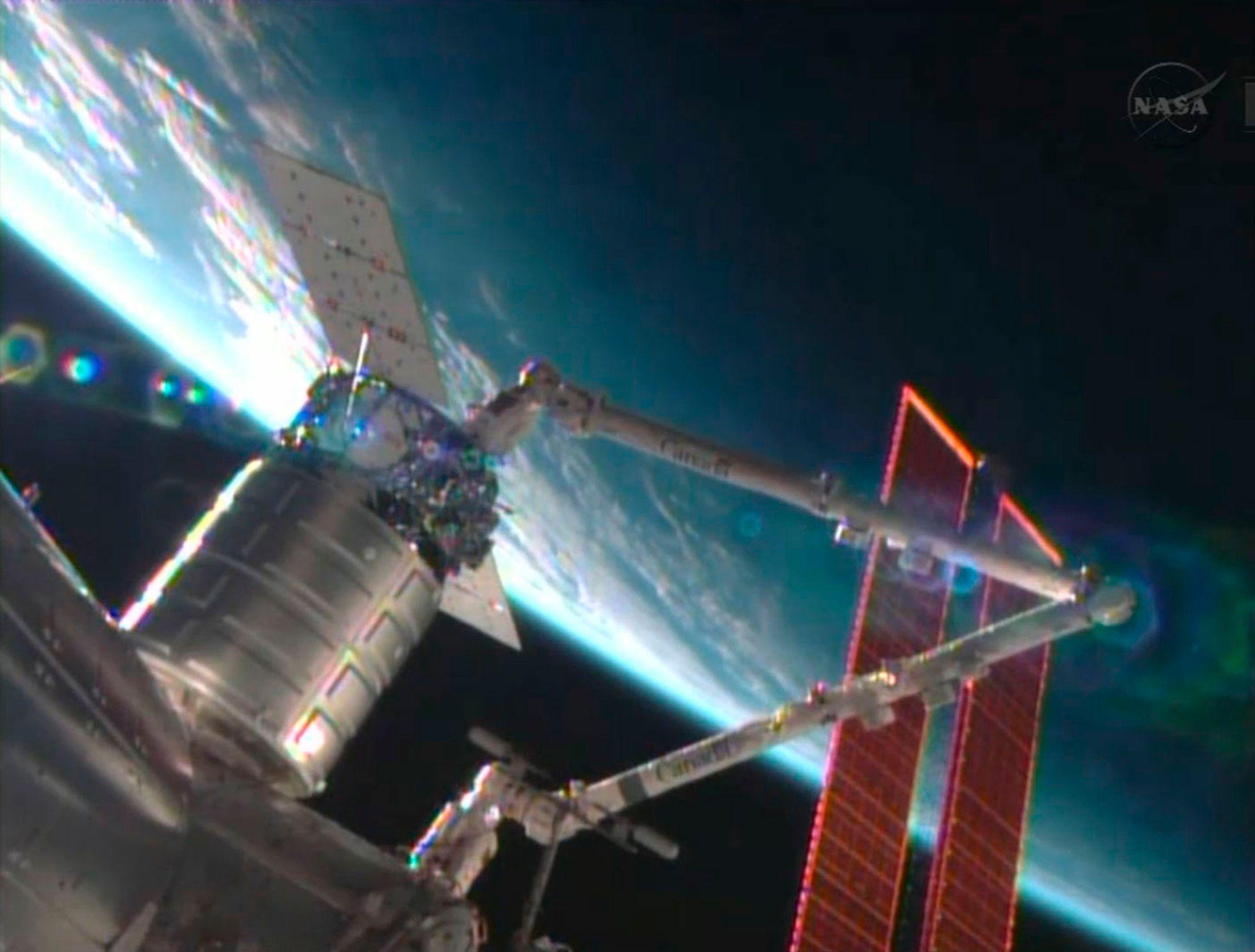 Cygnus est arrivée dimanche à la Station spatiale internationale.