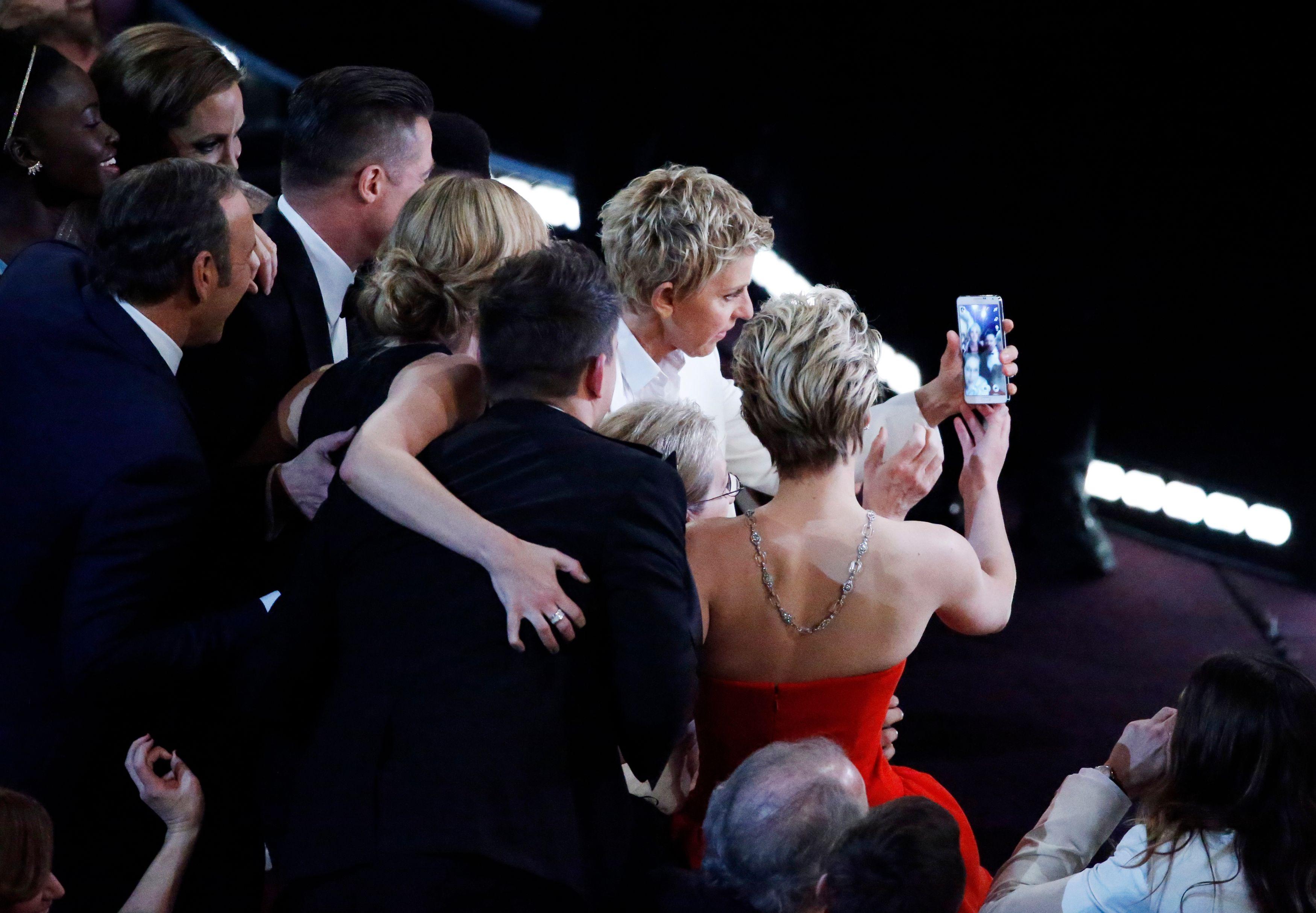Selfie des acteurs aux Oscars