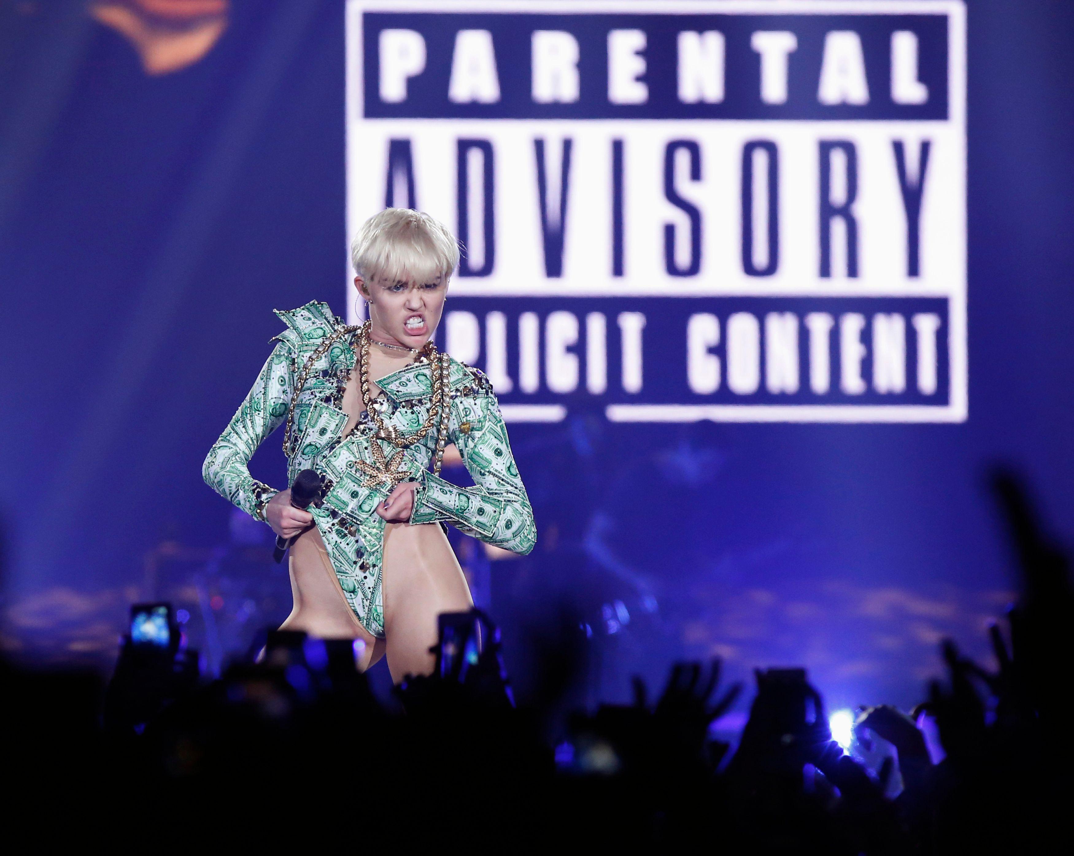 Miley Cyrus en plein délire à Londres