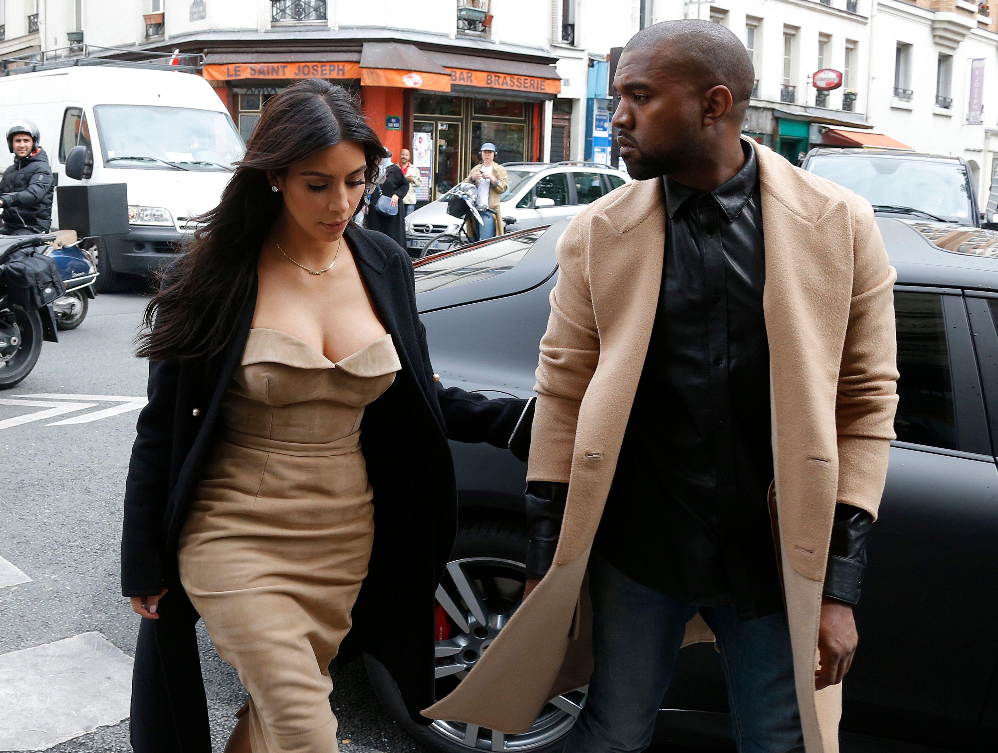 Kim Kardashian et Kanye West à Paris