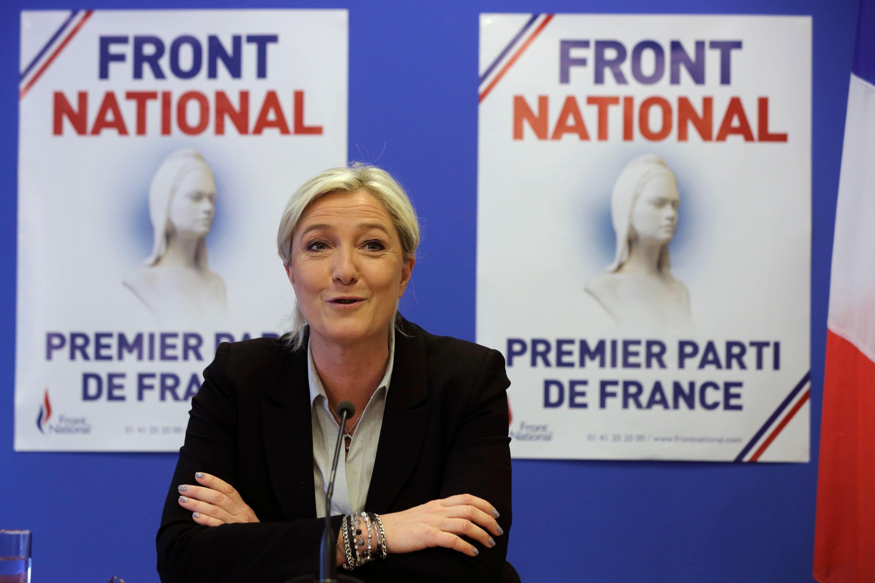 Le dernier sondage en date donne Marine Le Pen en tête d'un premier tour des présidentielles.