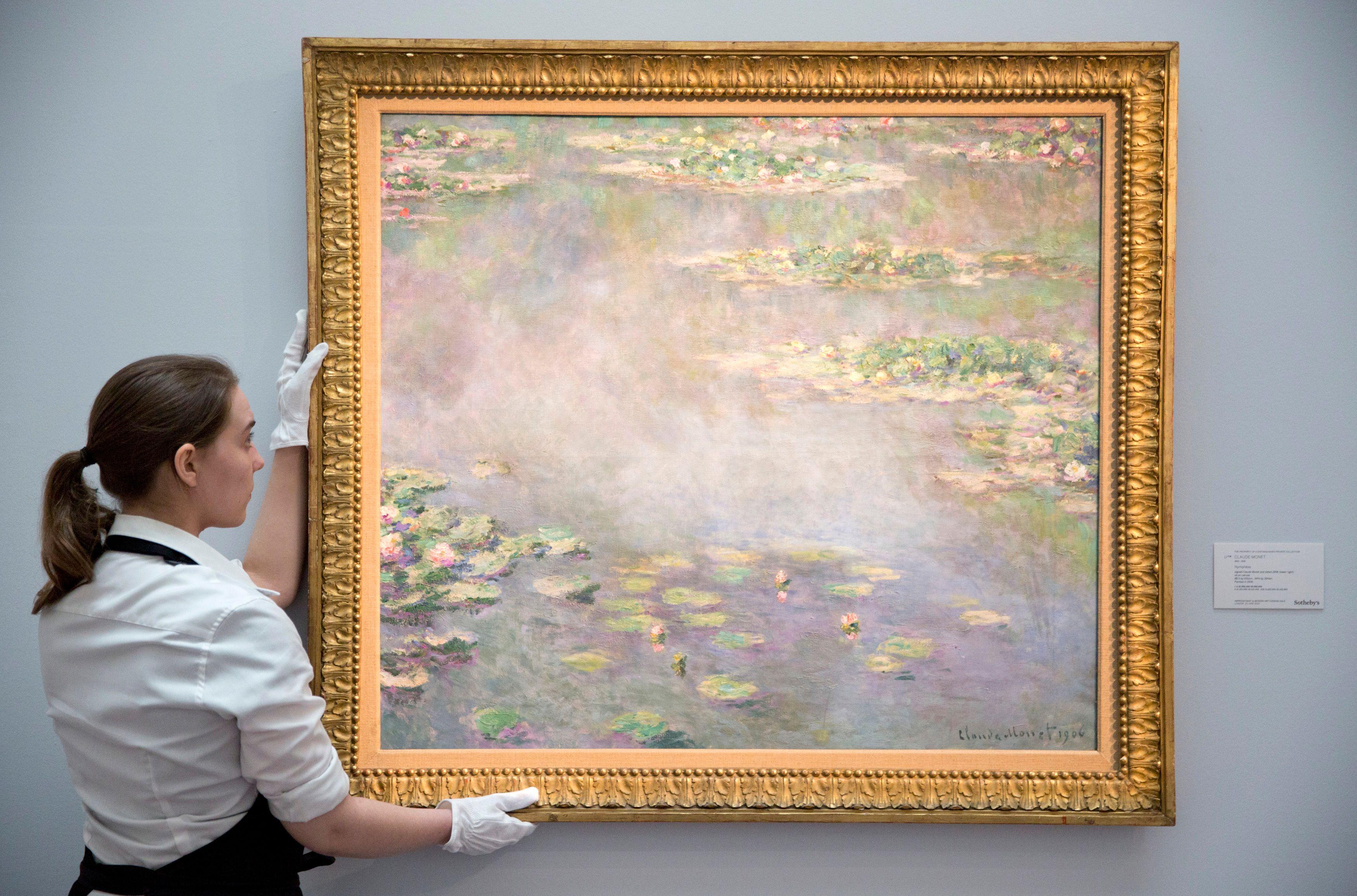 La toile de Claude Monet