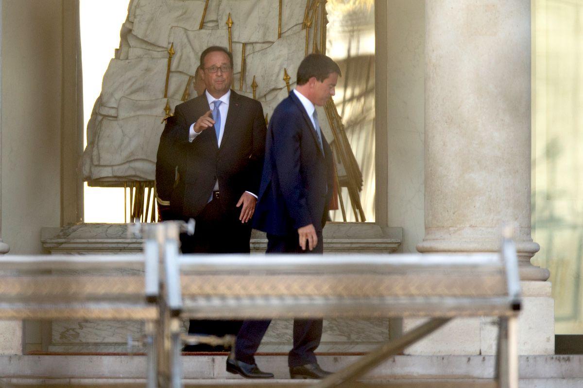 Manuel Valls et François Hollande, le 26 août 2014.