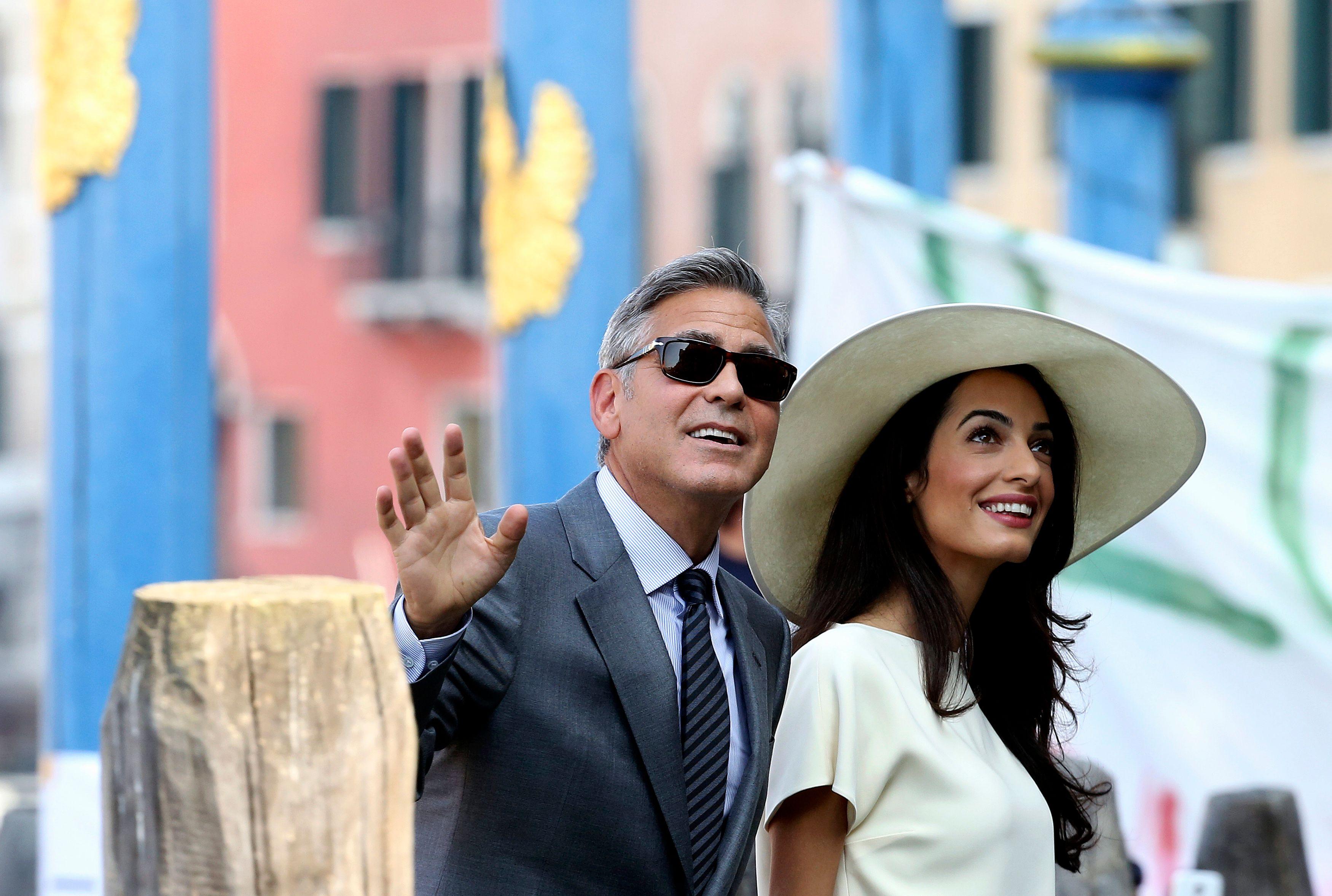 George Clooney et Amal Alamuddin se sont mariés à Venise