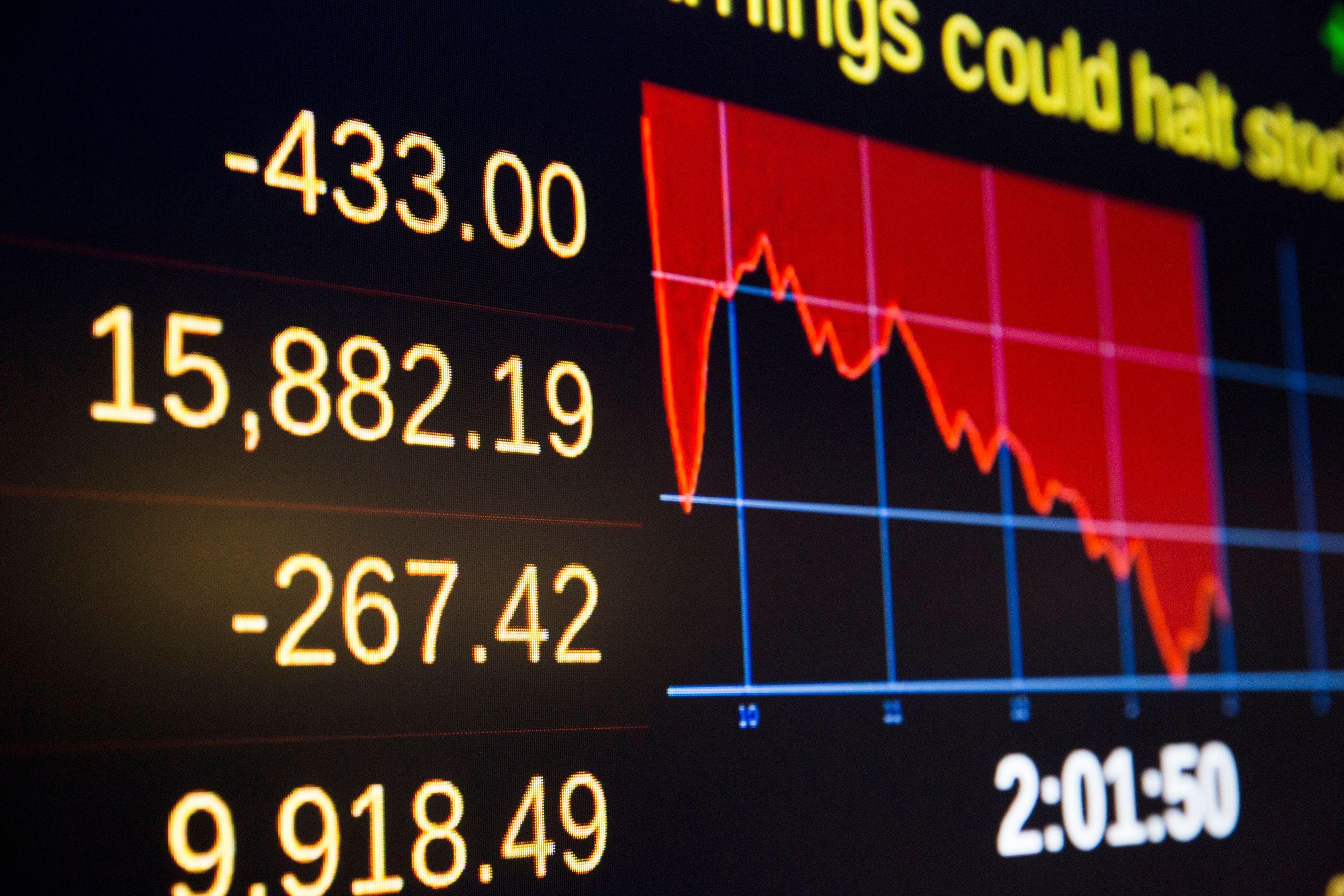 La Bourse de Shanghai a encore reculé de 7,63%, les bourses européennes résistent