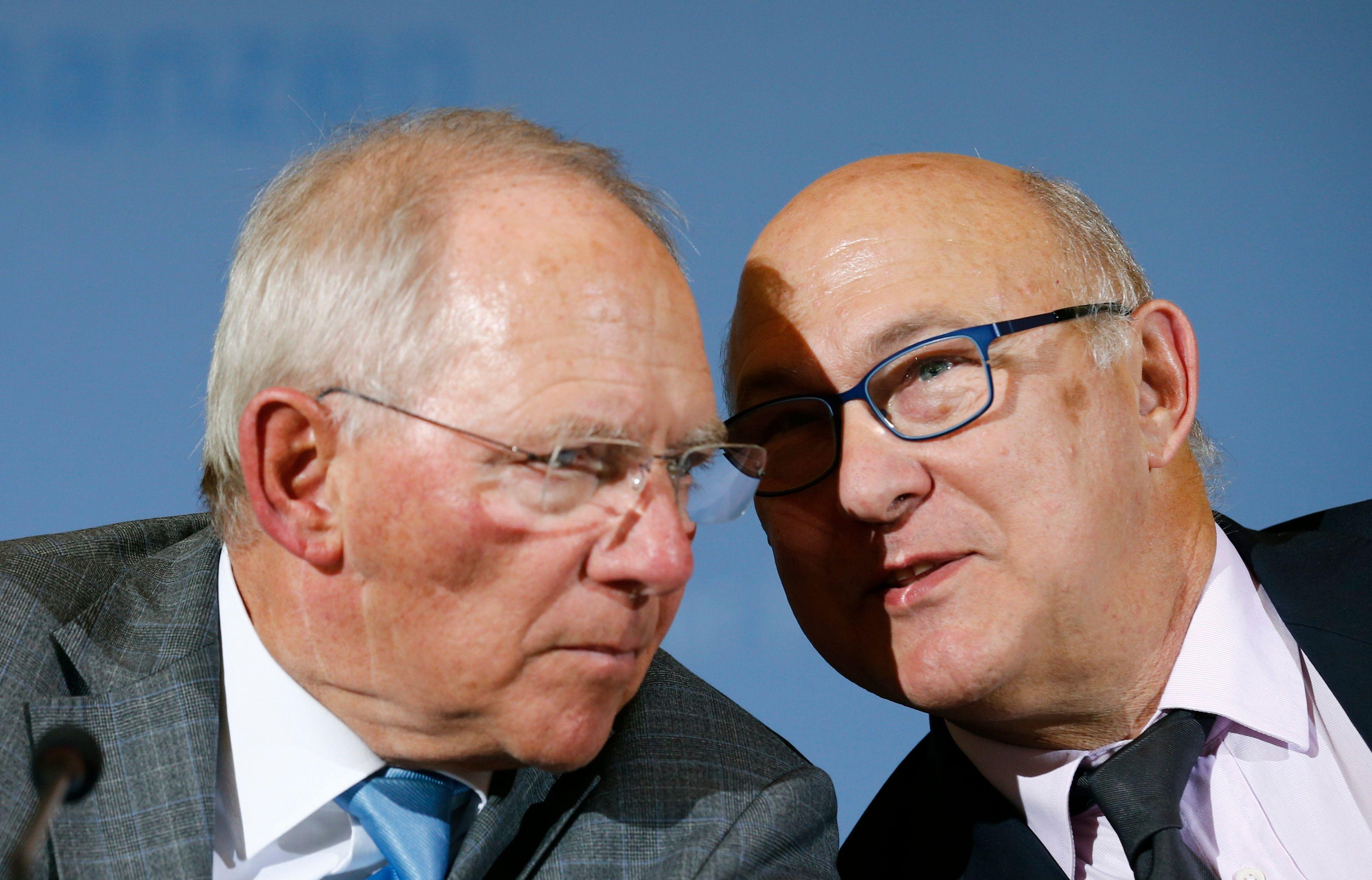 Michel Sapin et Wolfgang Schäuble, le ministre allemand des Finances.
