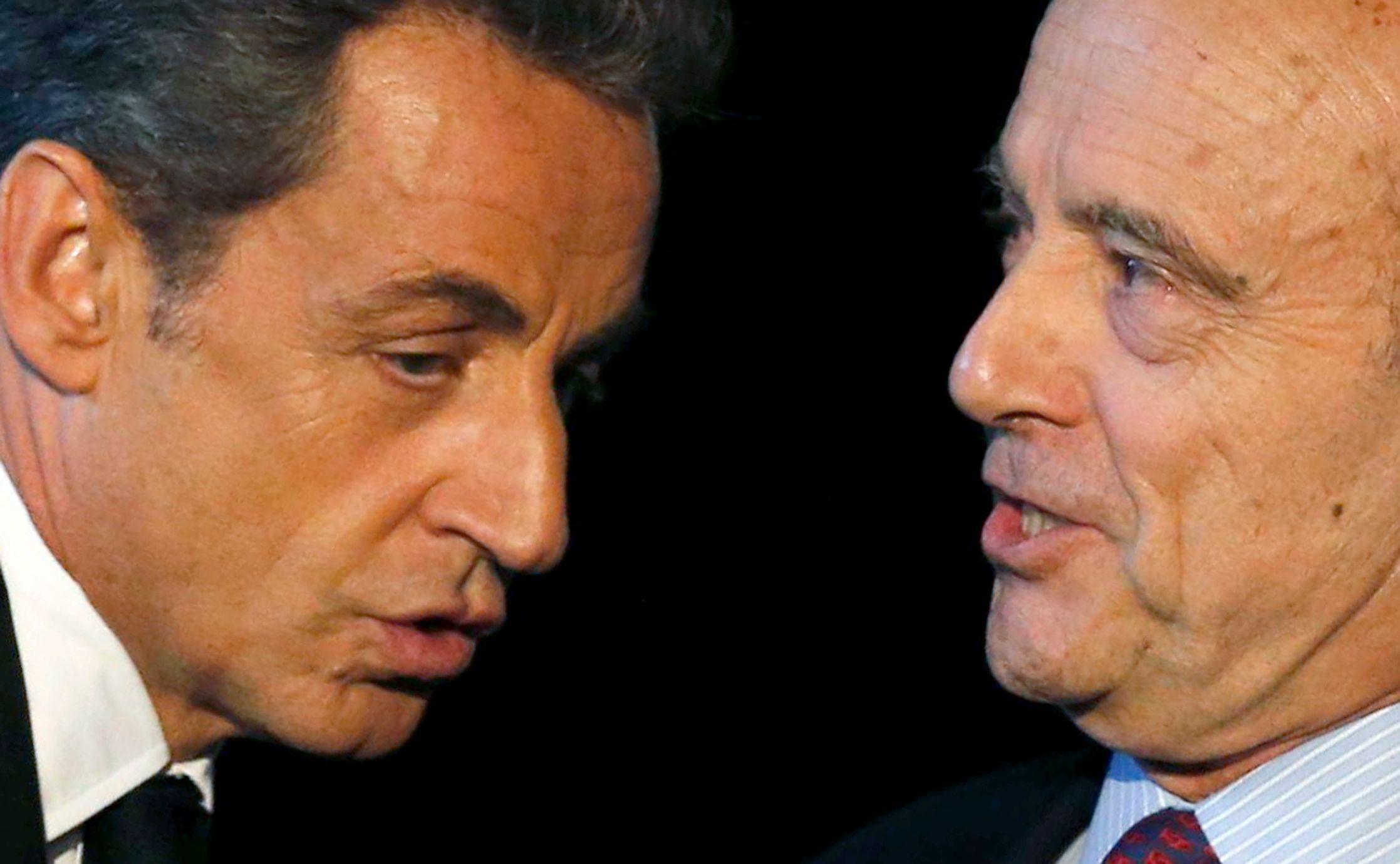 Nicolas Sarkozy et Alain Juppé.