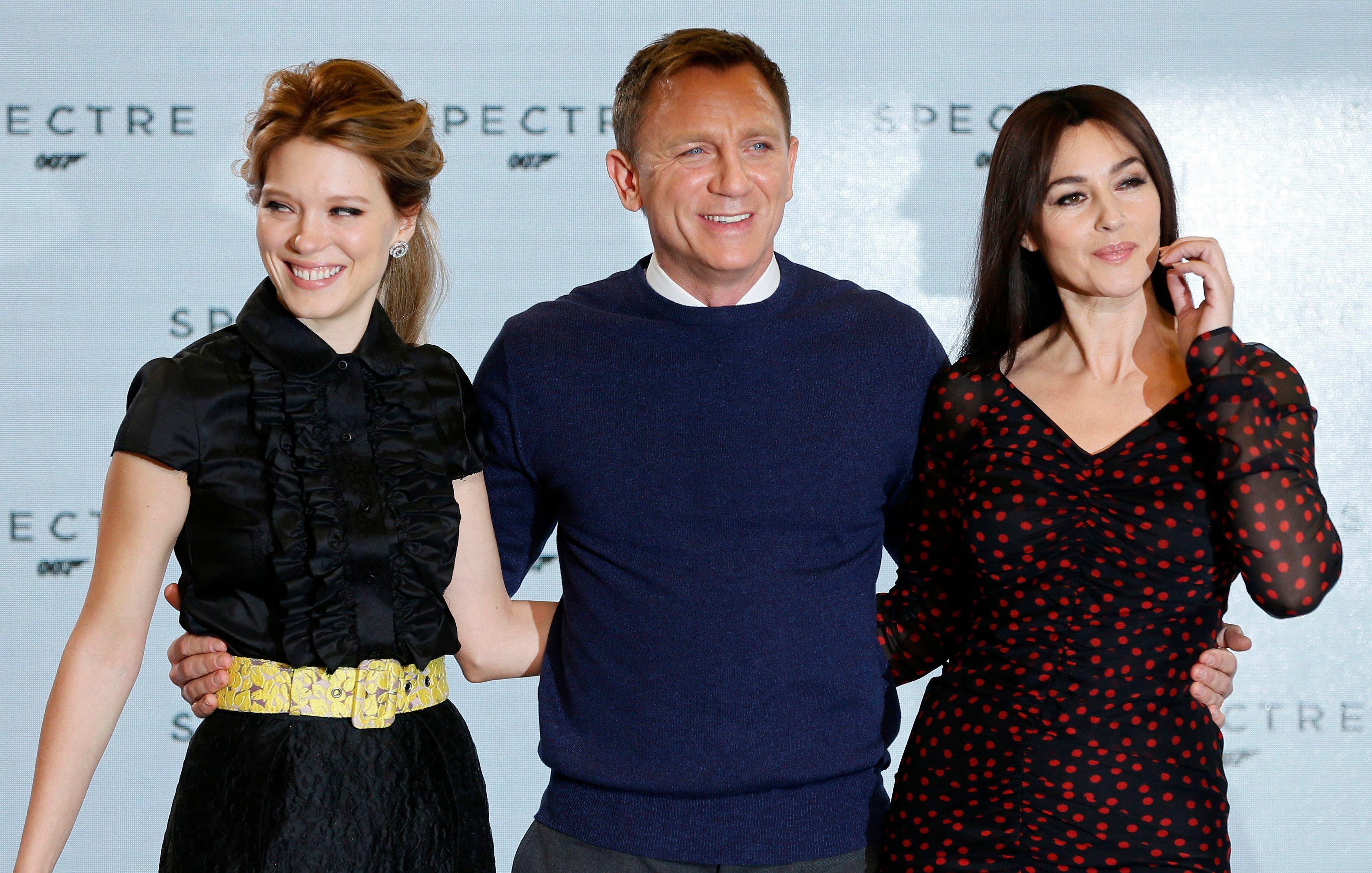 Léa Seydoux, Daniel Craig et Monica Bellucci.