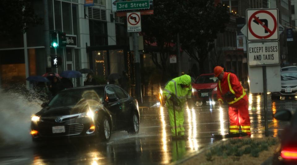 Les images de l'énorme tempête qui frappe la Californie