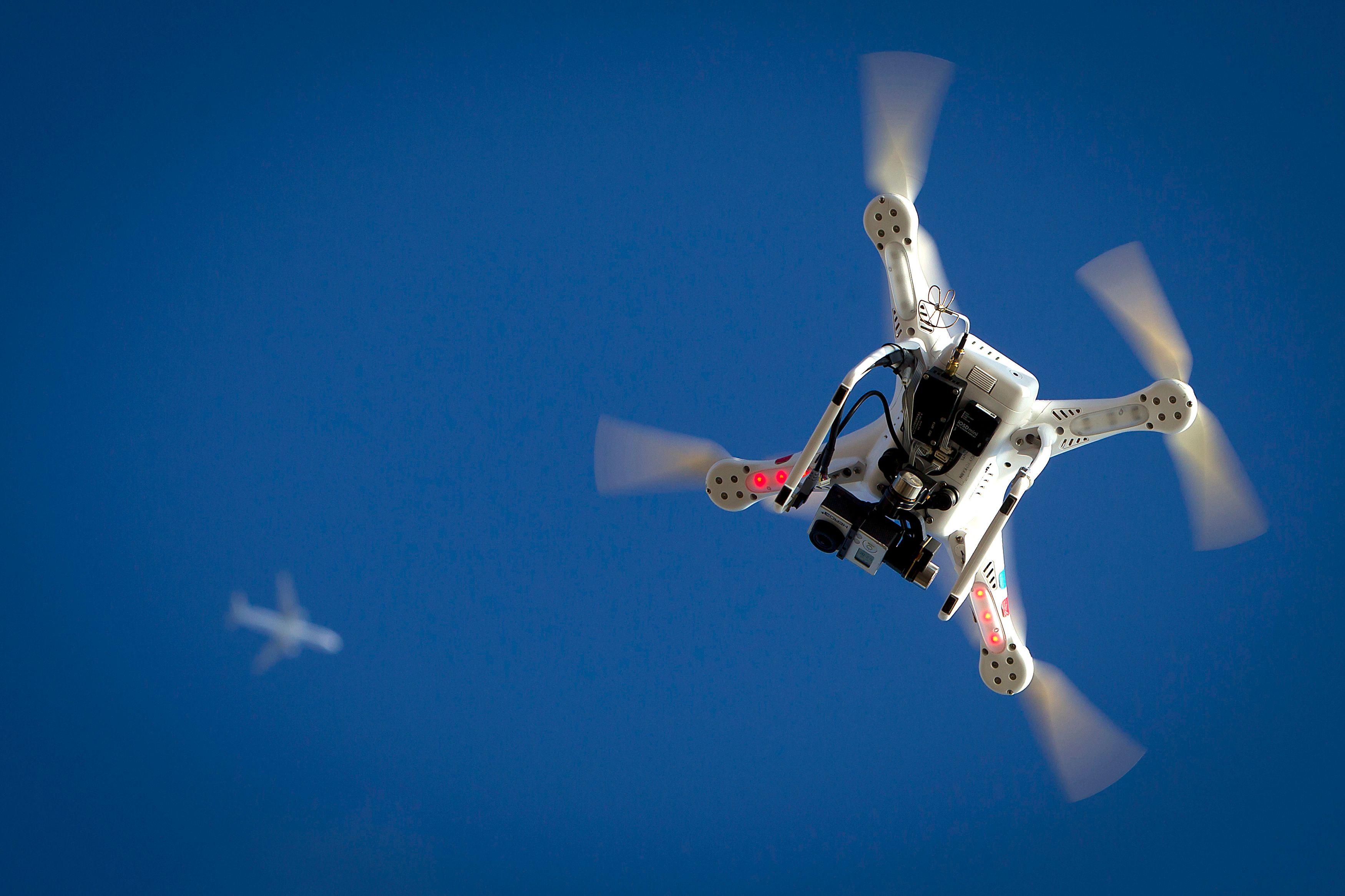 Un drone a survolé le palais de l'Elysée dans la nuit de jeudi à vendredi.