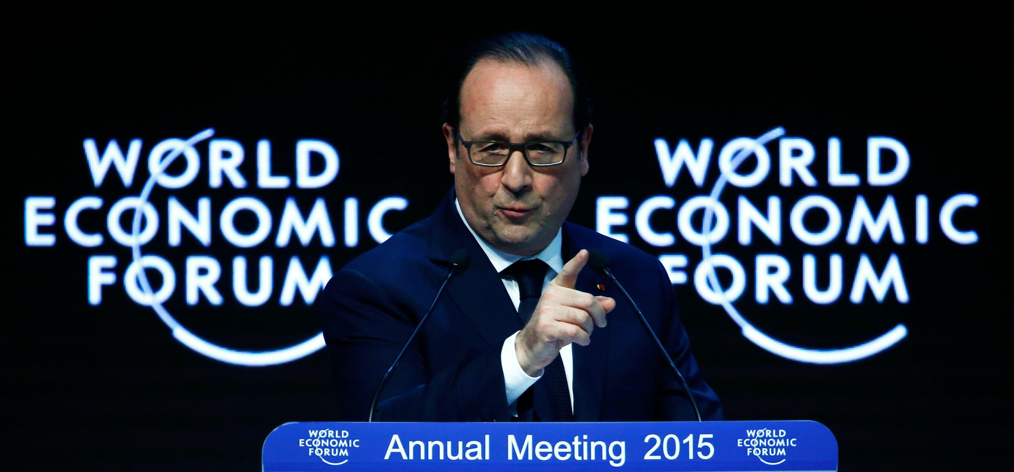 Le discours de François Hollande à Davos n'a pas été particulièrement bien accueilli.