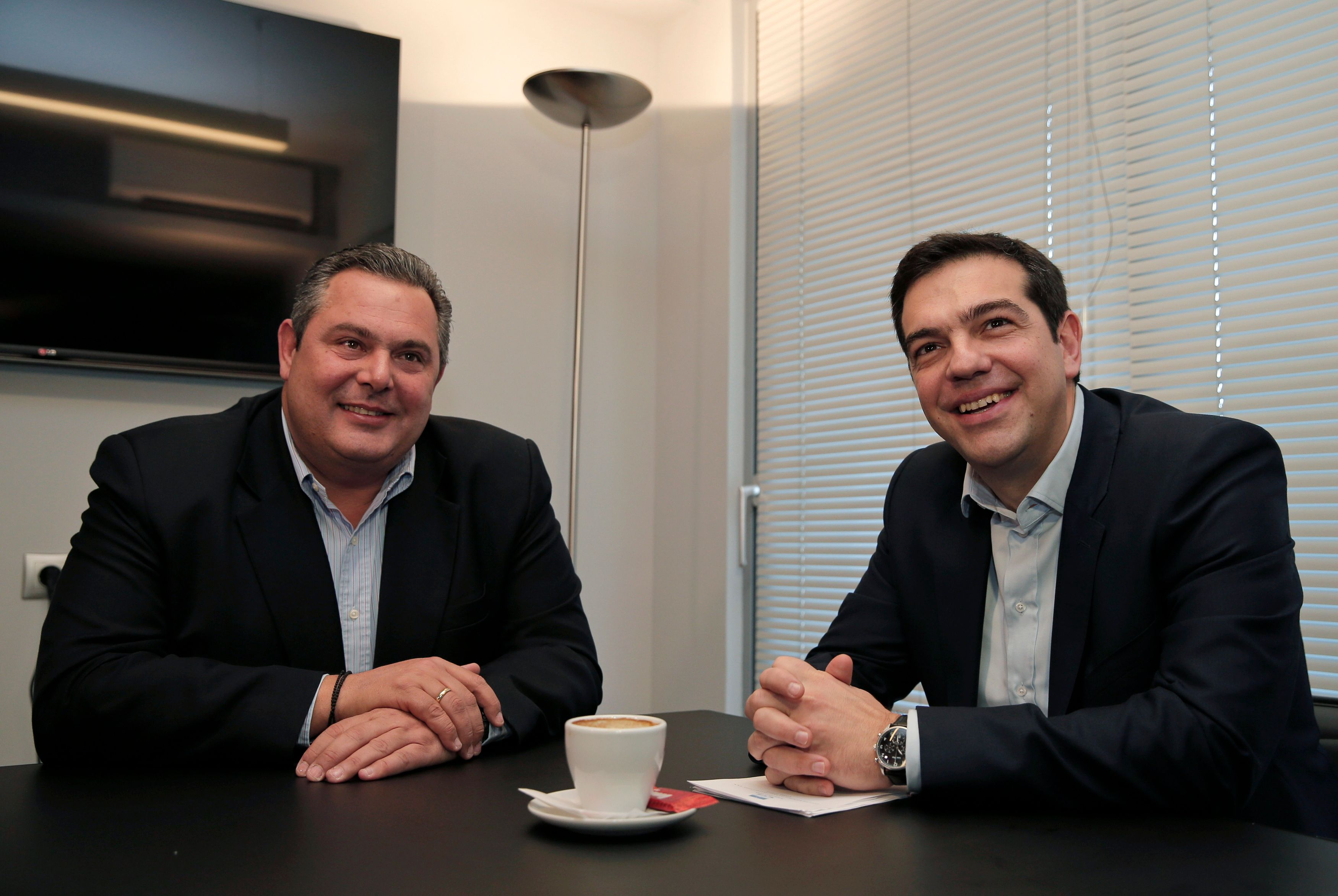 Panos Kammenos et Alexis Tsipras