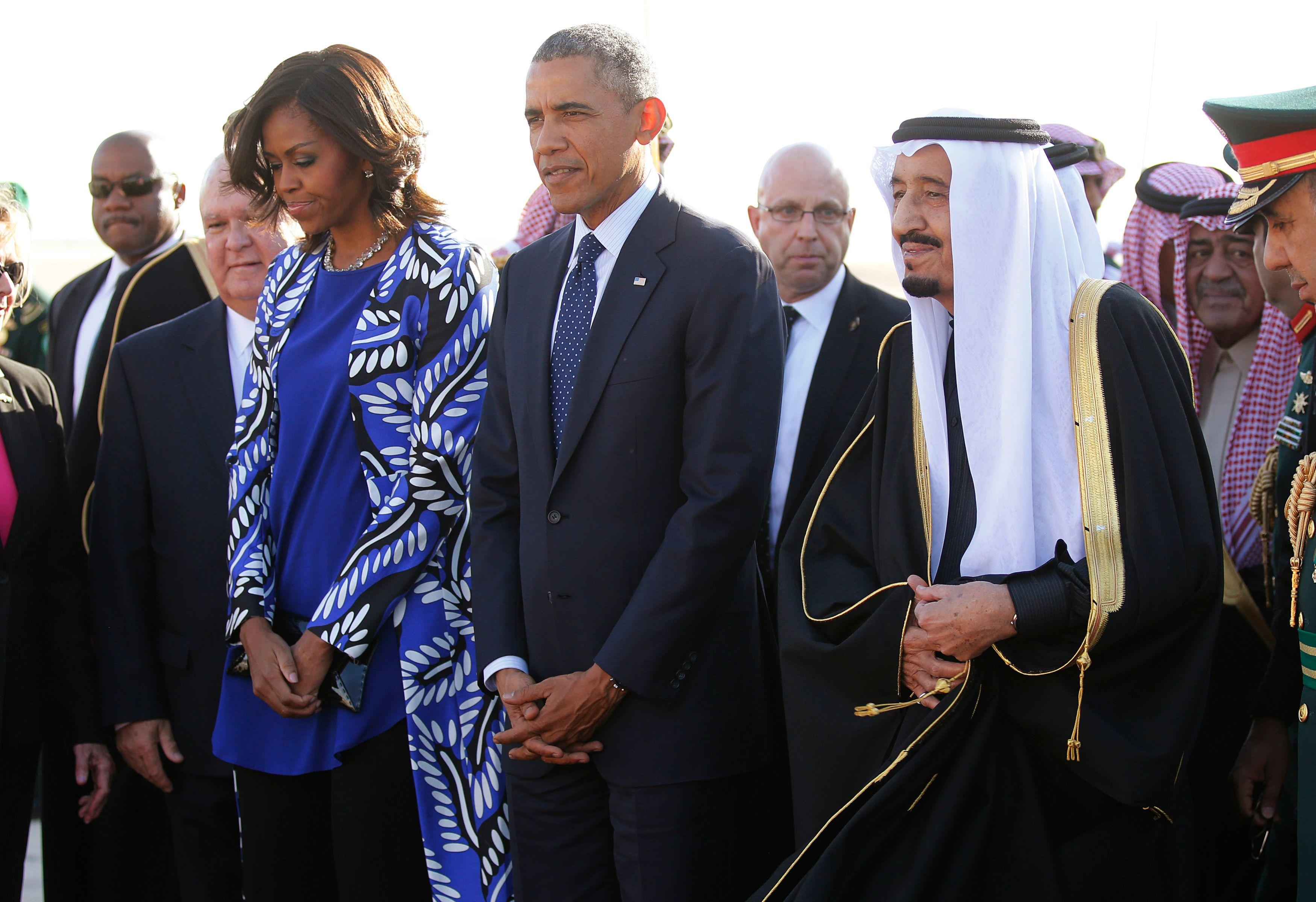 Michelle Obama en Arabie saoudite