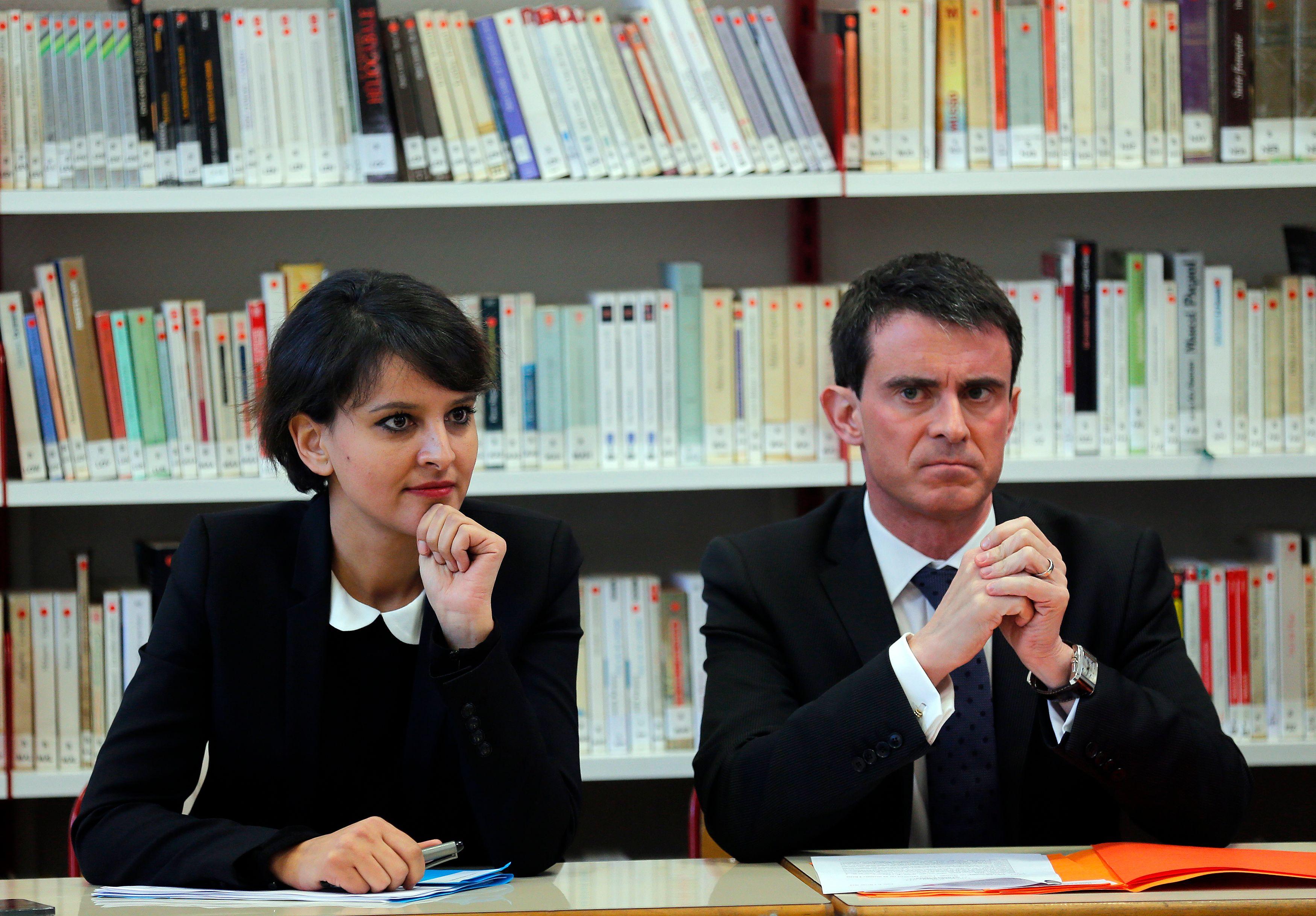 Najat Vallaud-Belkacem et Manuel Valls