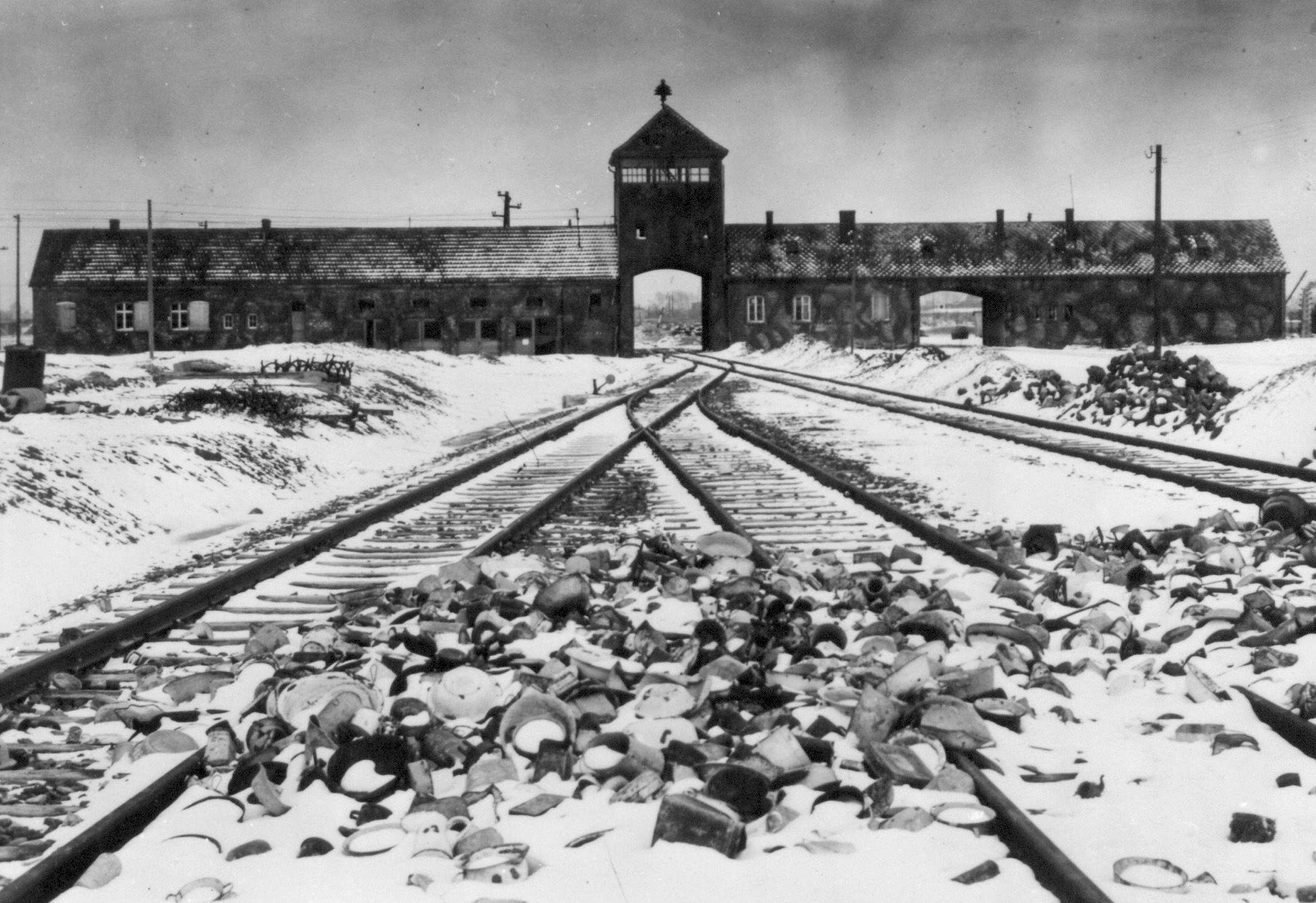 Les trois femmes et leur bébé ont survécu au camp d'Auschwitz