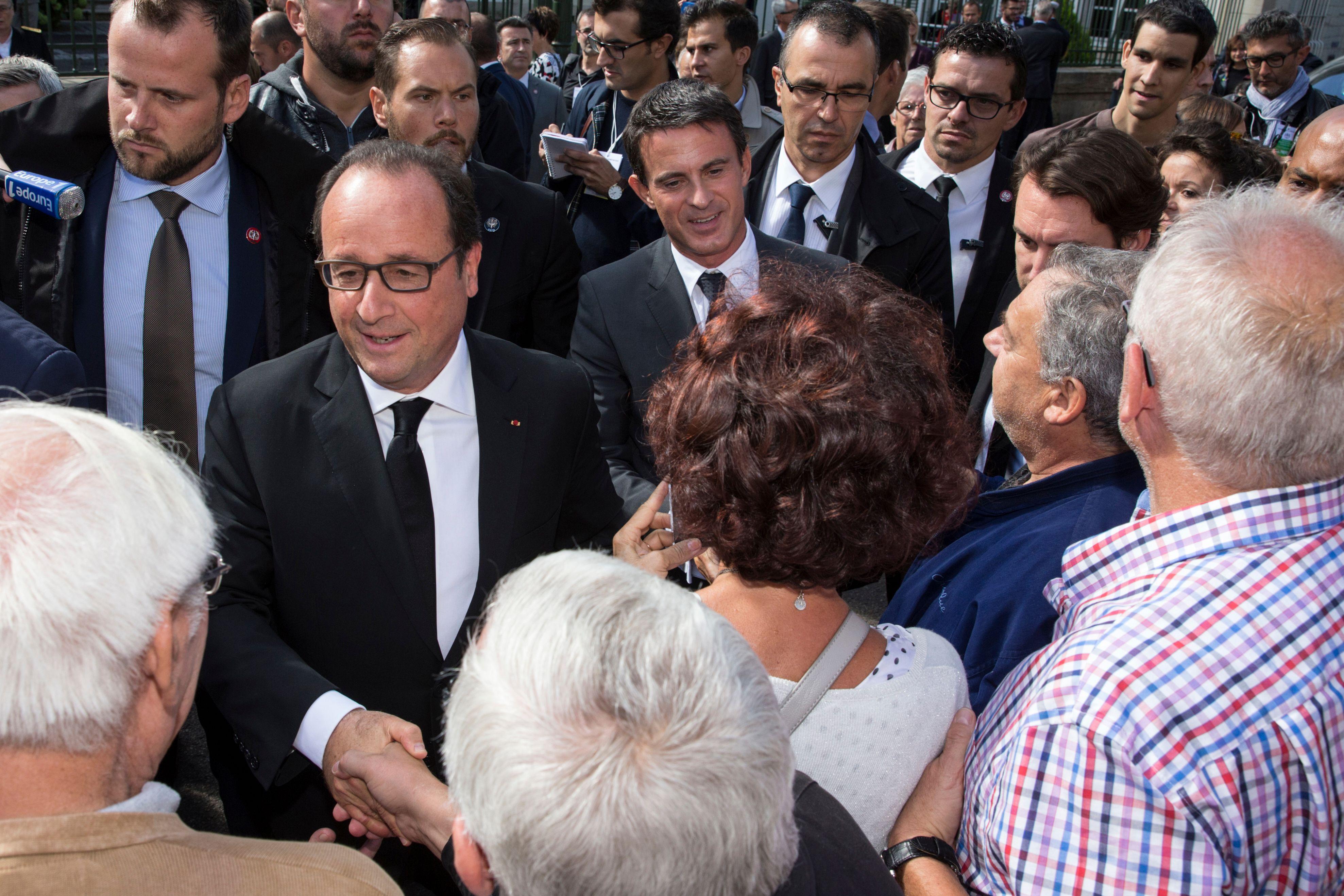 François Hollande à Vesoul lundi 14 septembre.