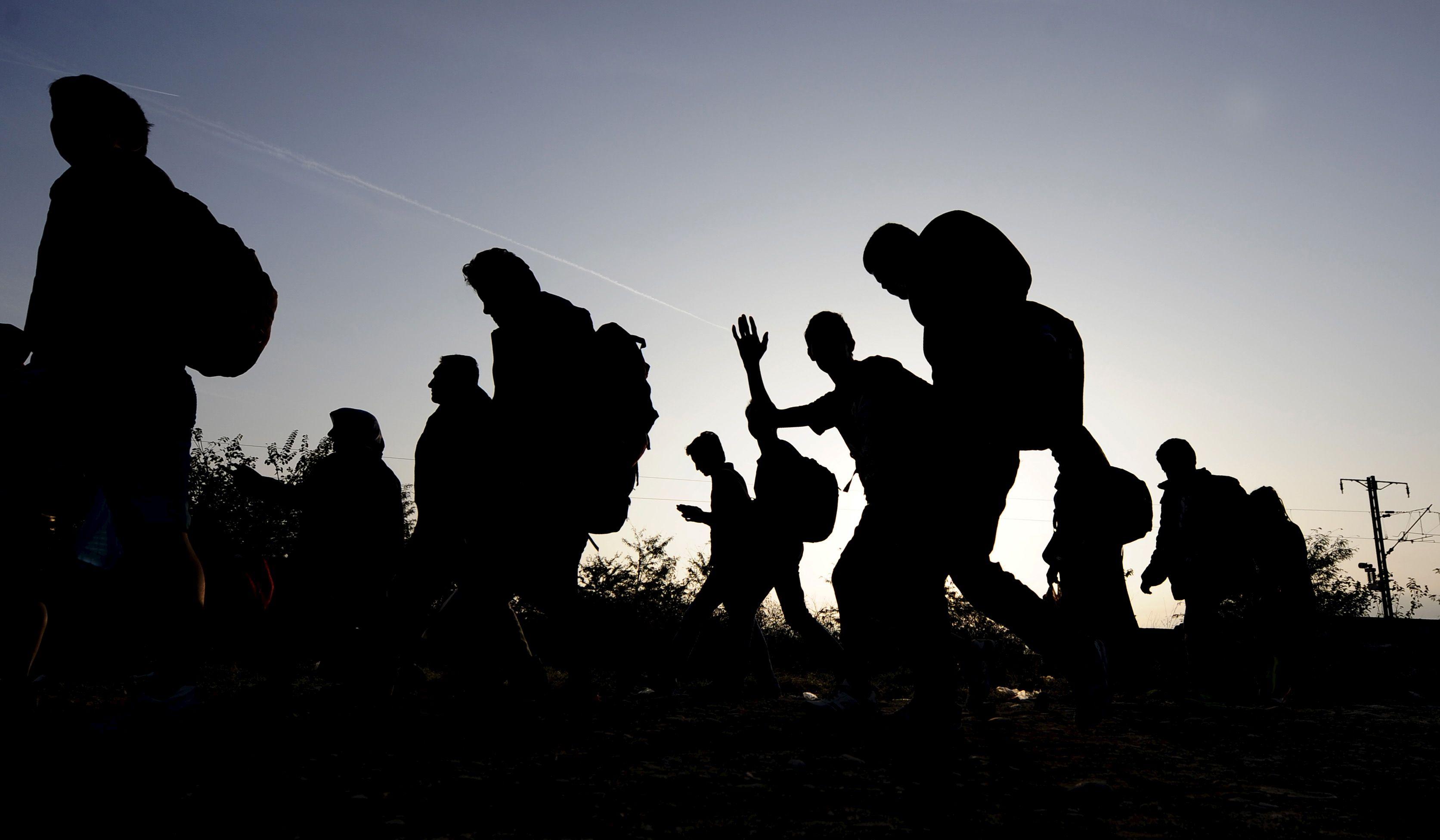 Des migrants.