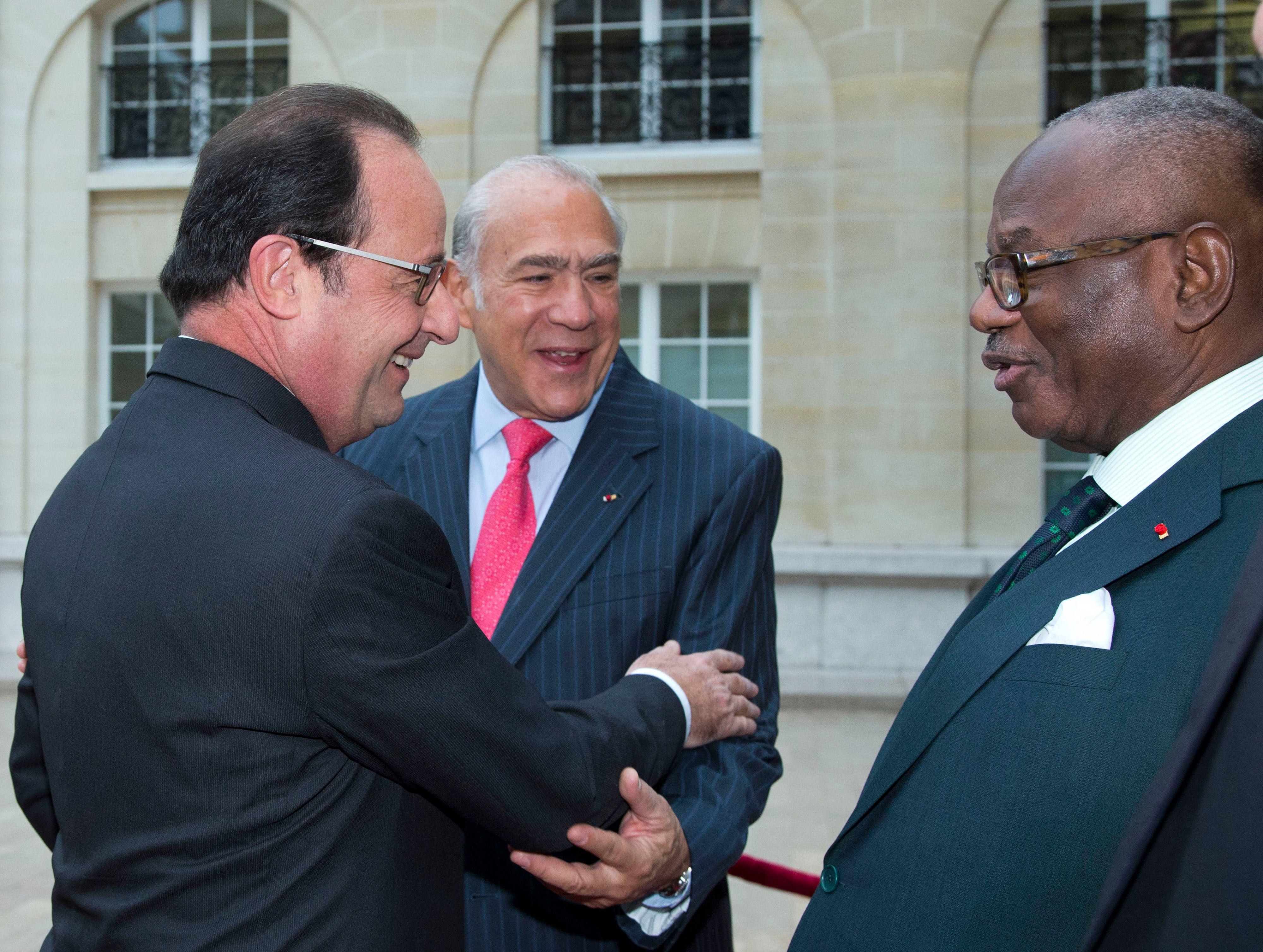 François Hollande reçu par le Président malien.