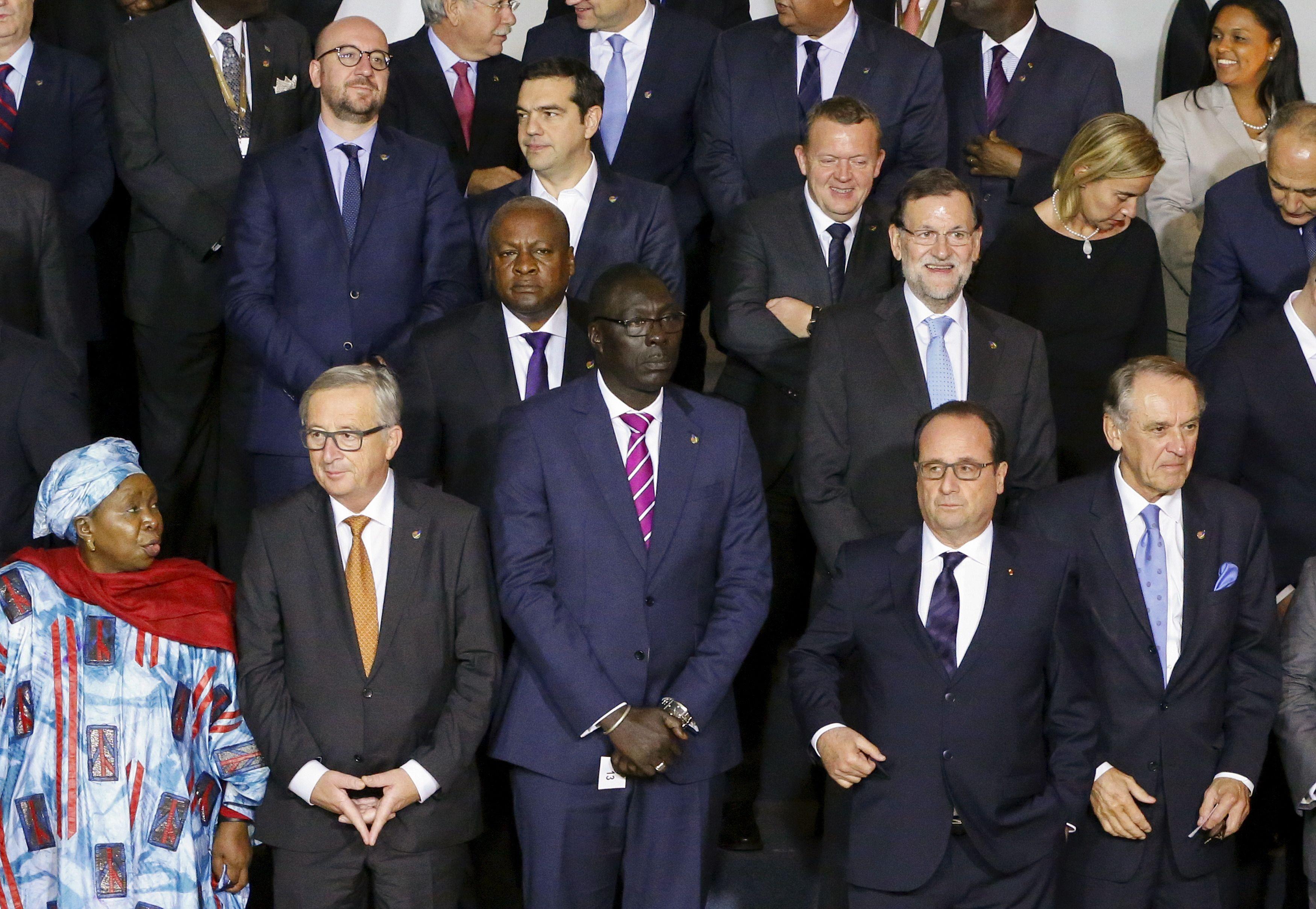 Dirigeants africains et européens à La Valette le 11 novembre 2015.