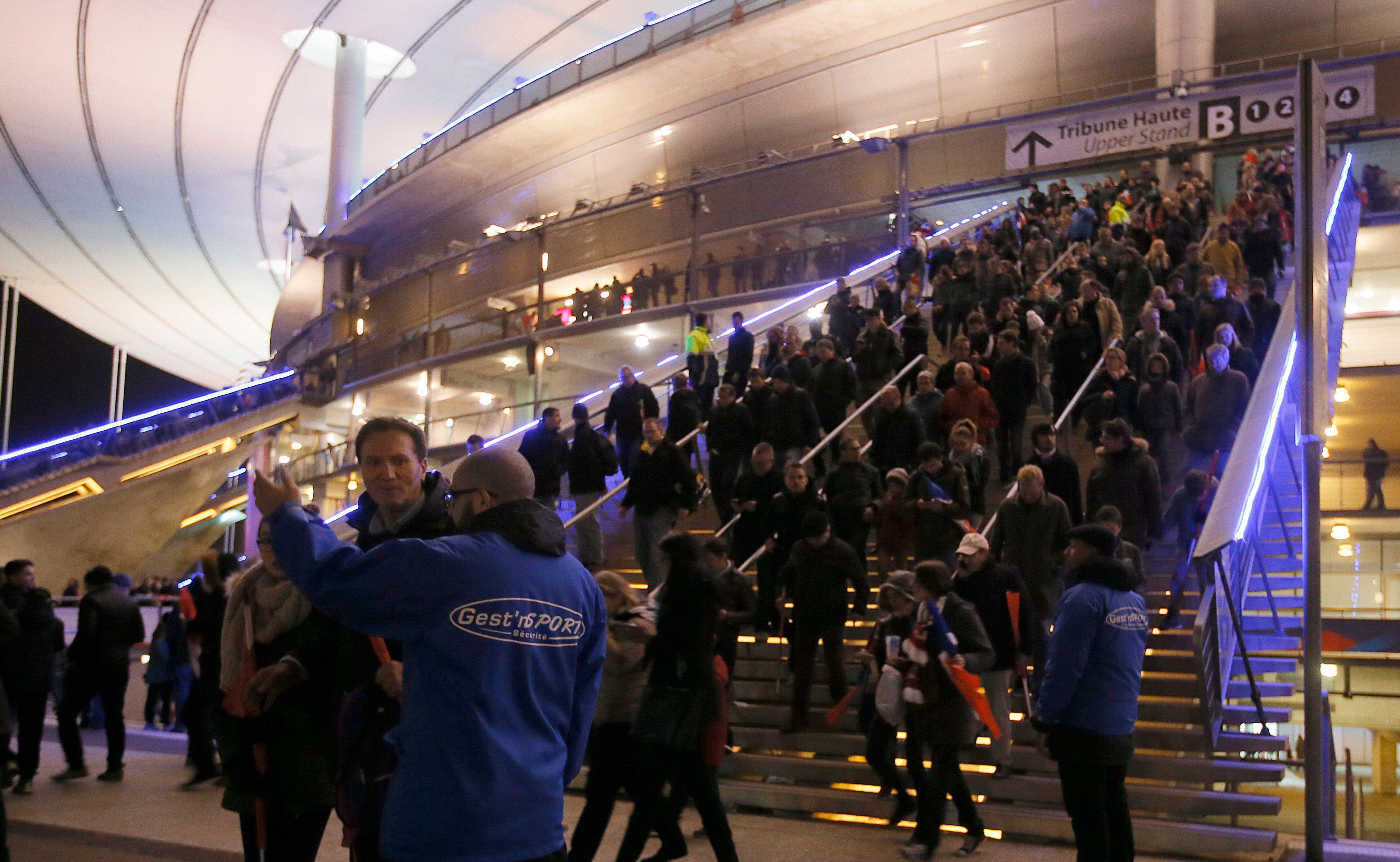 L'évacuation du Stade de France, le 13 novembre.