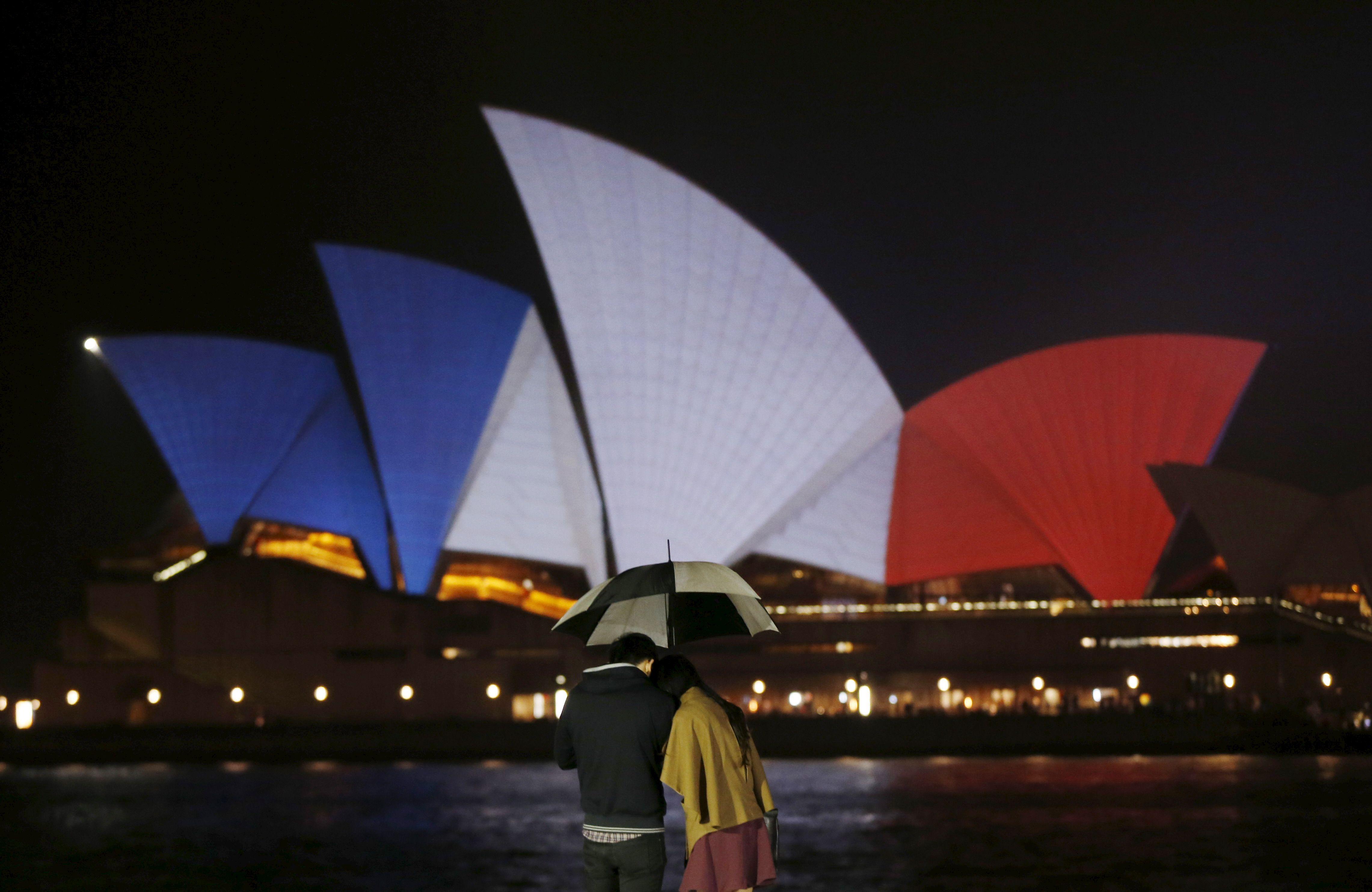 L'opéra de Sydney, aux couleurs de la France.