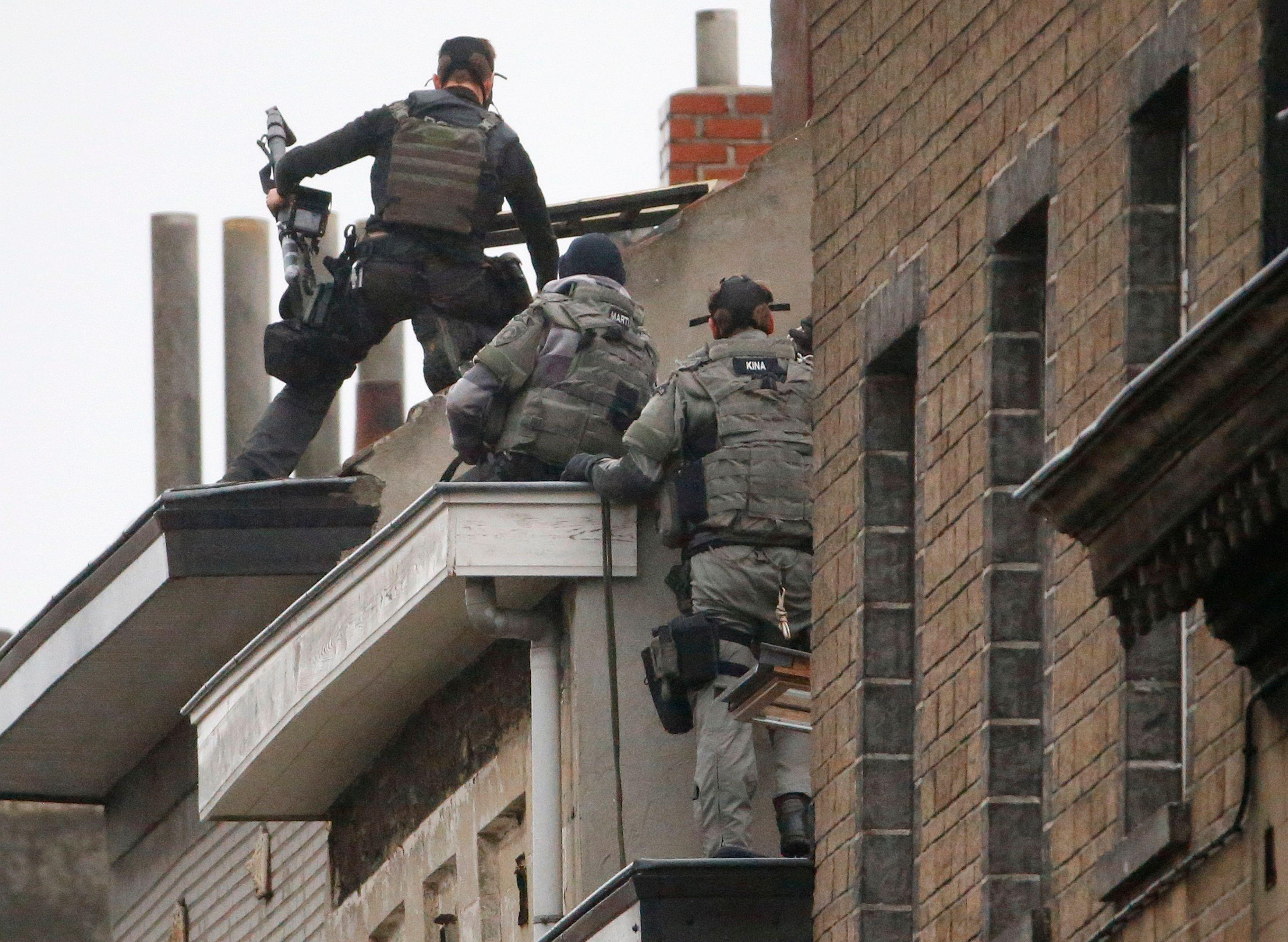 Intervention des forces de l'ordre à Molenbeek.