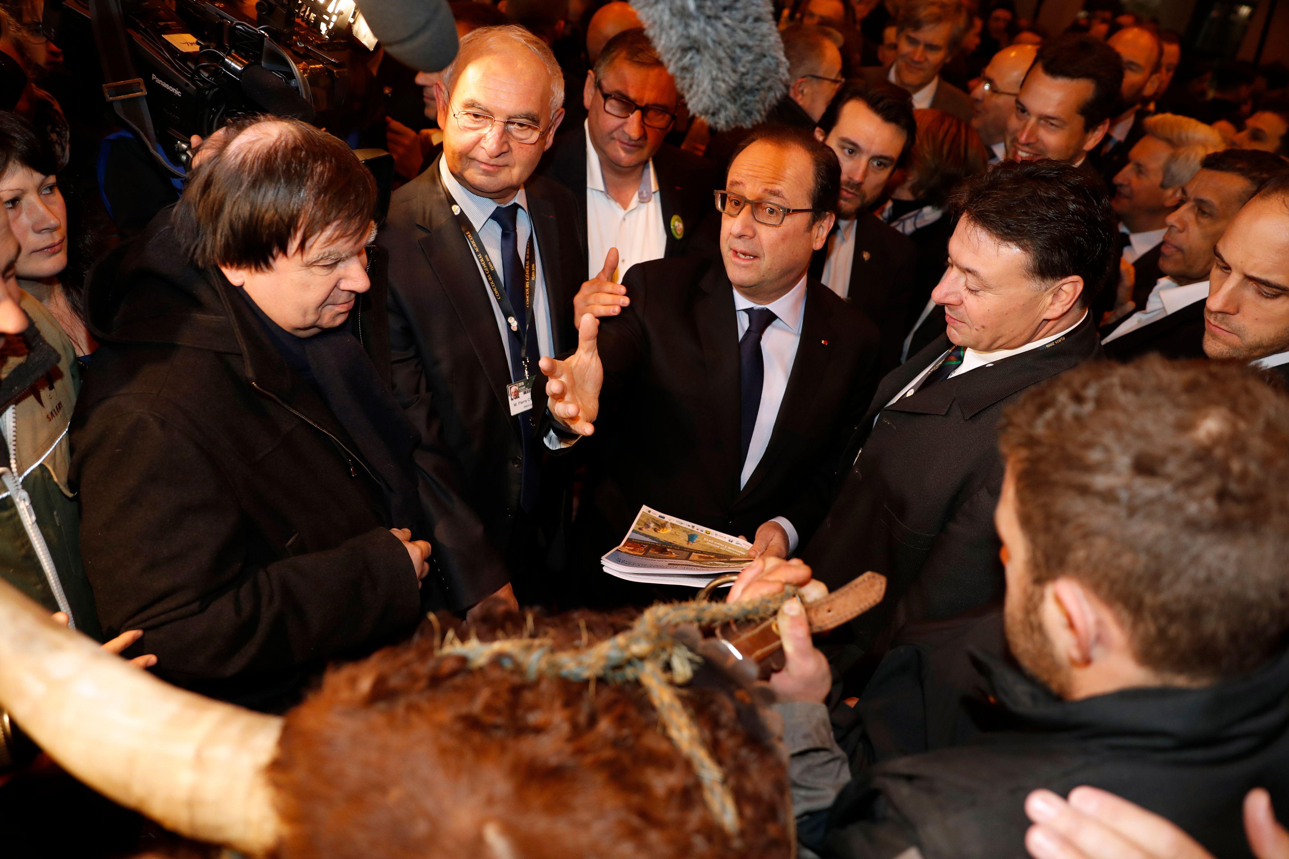 François Hollande au salon de l'agriculture, le 27 février 2016.