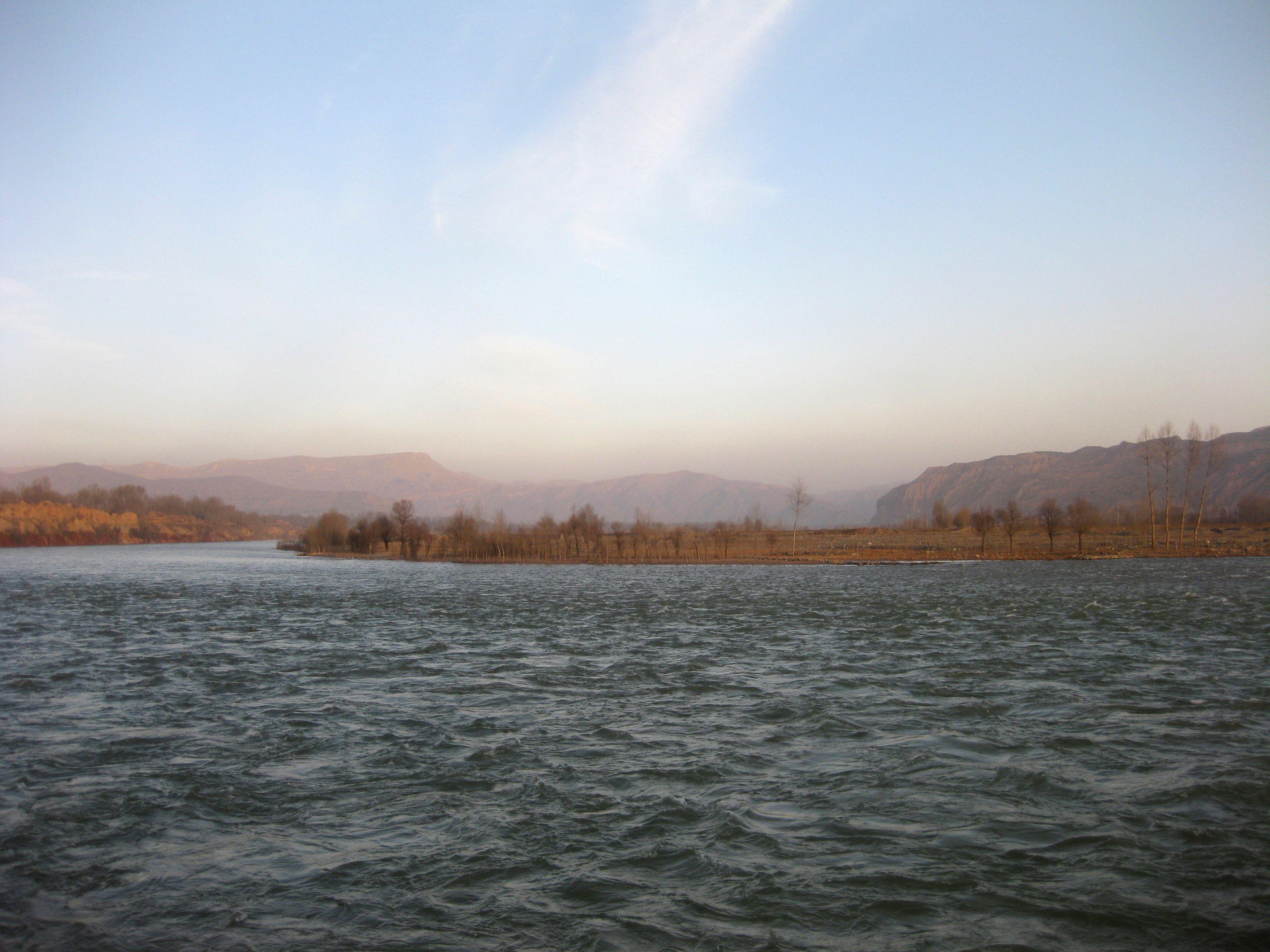 Une vue du Fleuve jaune, dans la province de Qinghai.