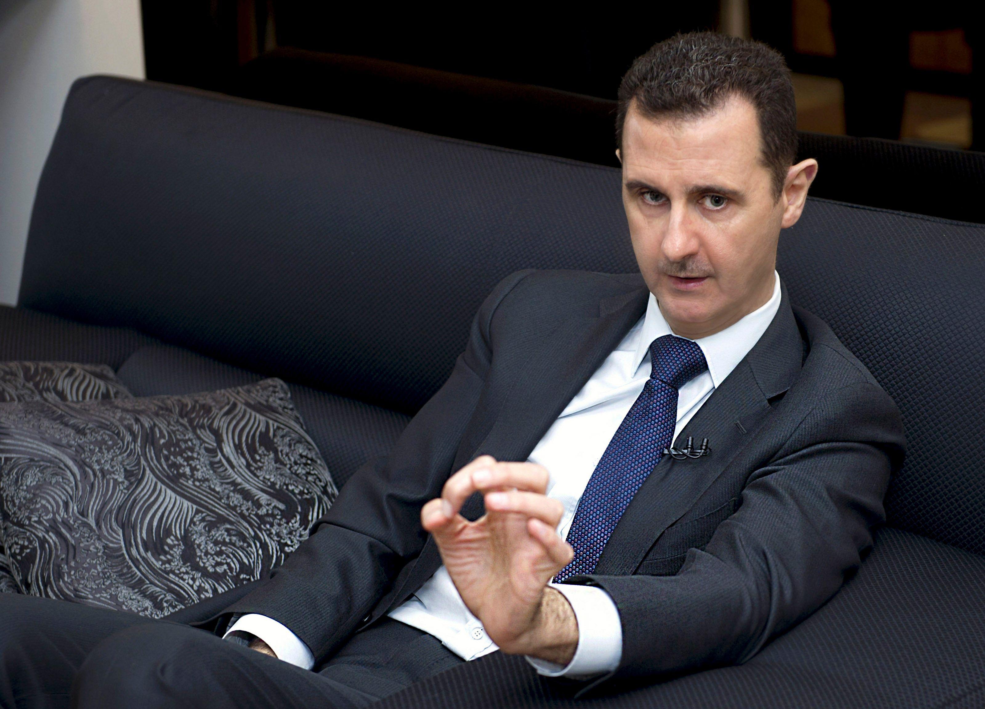 """Bachar Al-Assad : """"L'attaque chimique est une fabrication à 100% de l'Occident"""""""
