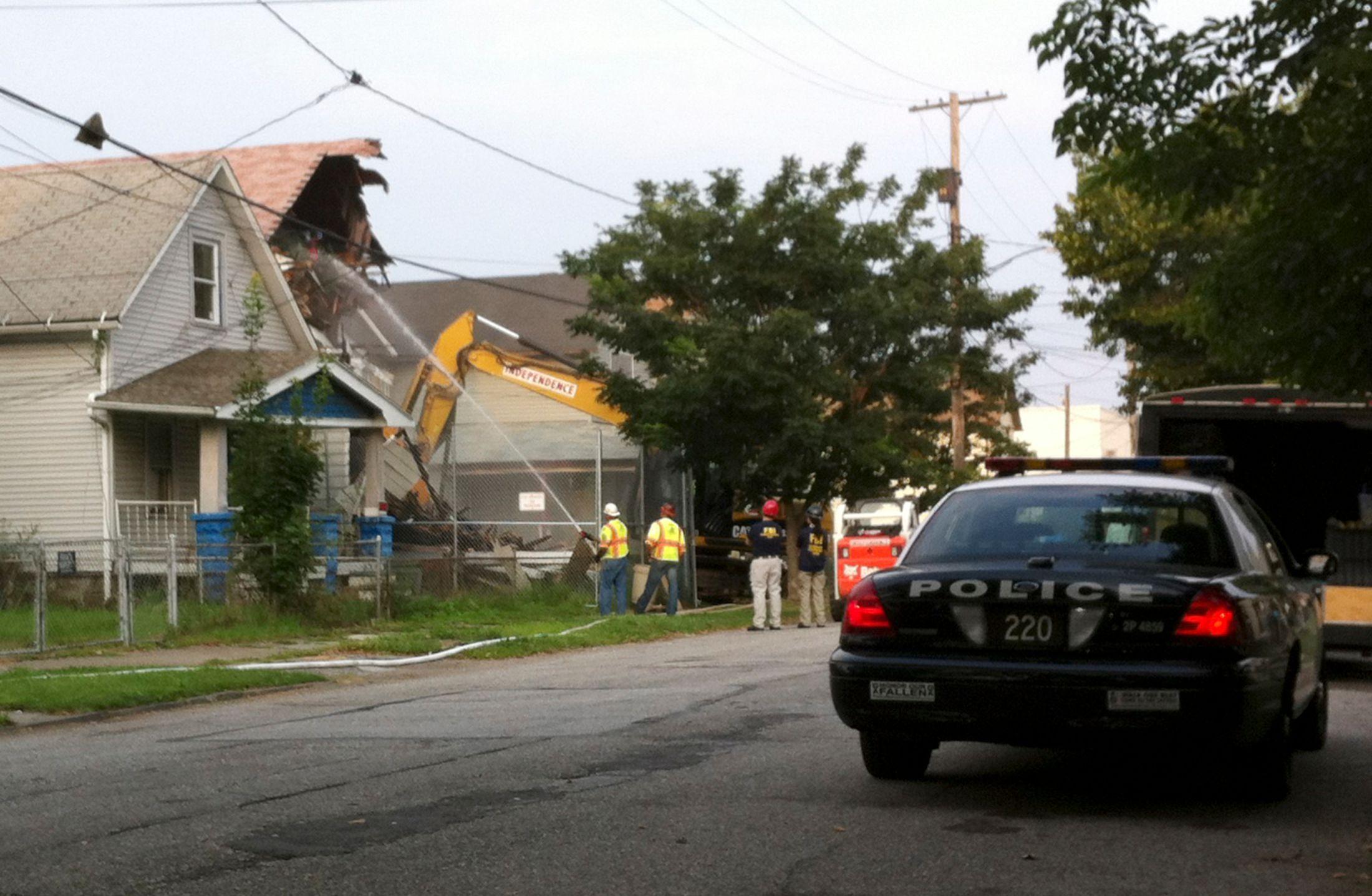 La maison d'Ariel Castro a été détruite le 7 août à Cleveland